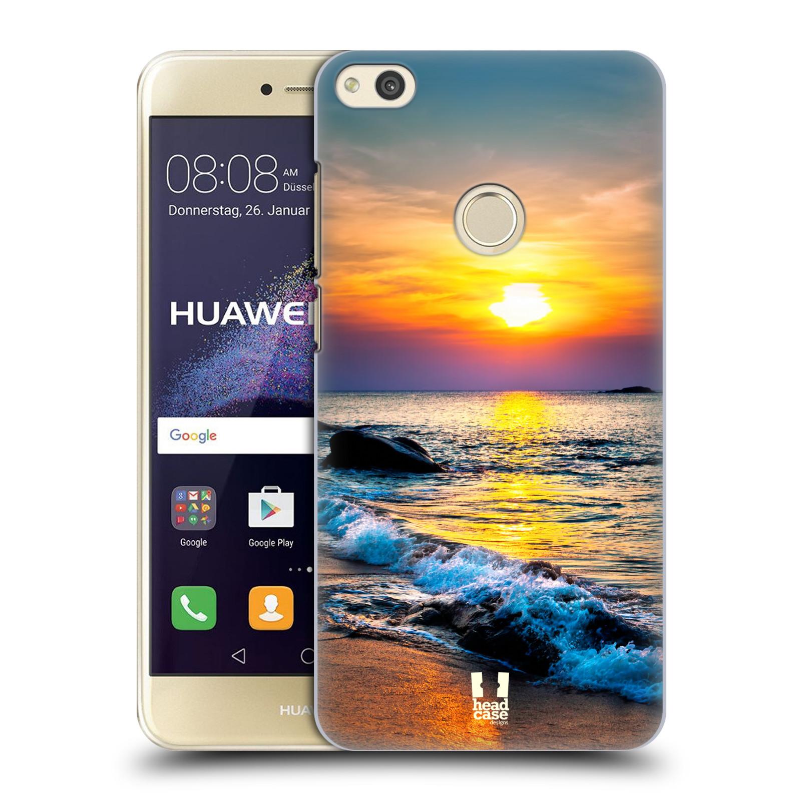 HEAD CASE silikonový obal na mobil Huawei P8 LITE 2017 vzor Pláže a Moře barevný západ slunce