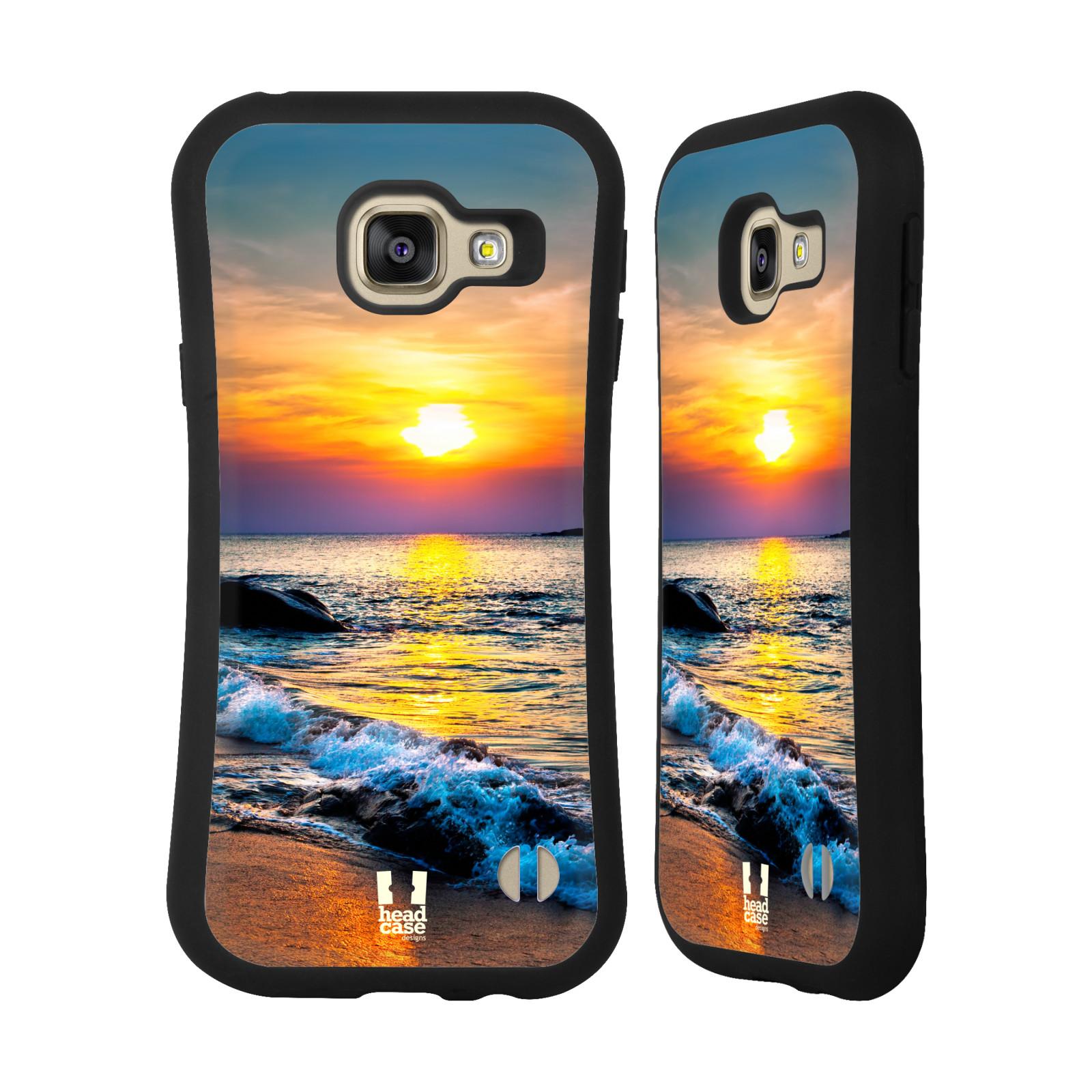 HEAD CASE silikon/plast odolný obal na mobil Samsung Galaxy A3 2016 vzor Pláže a Moře barevný západ slunce