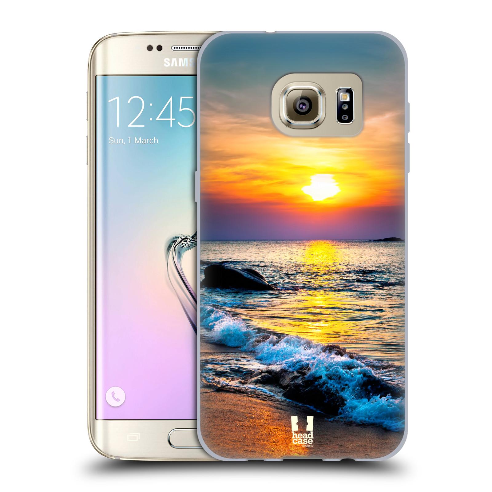 HEAD CASE silikonový obal na mobil Samsung Galaxy S7 EDGE (G9350) vzor Pláže a Moře barevný západ slunce