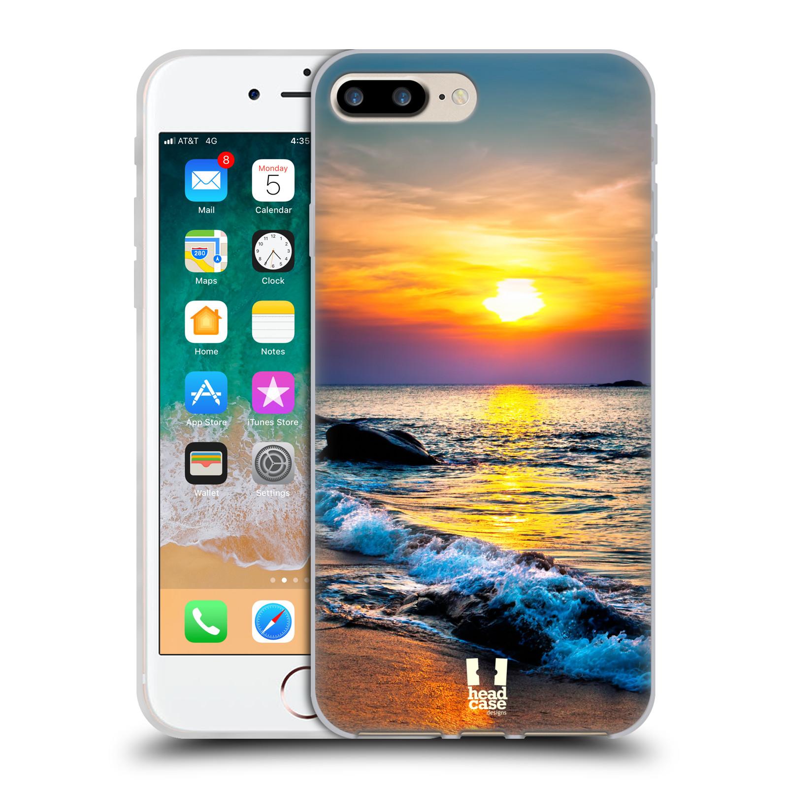 HEAD CASE silikonový obal na mobil Apple Iphone 7 PLUS vzor Pláže a Moře barevný západ slunce