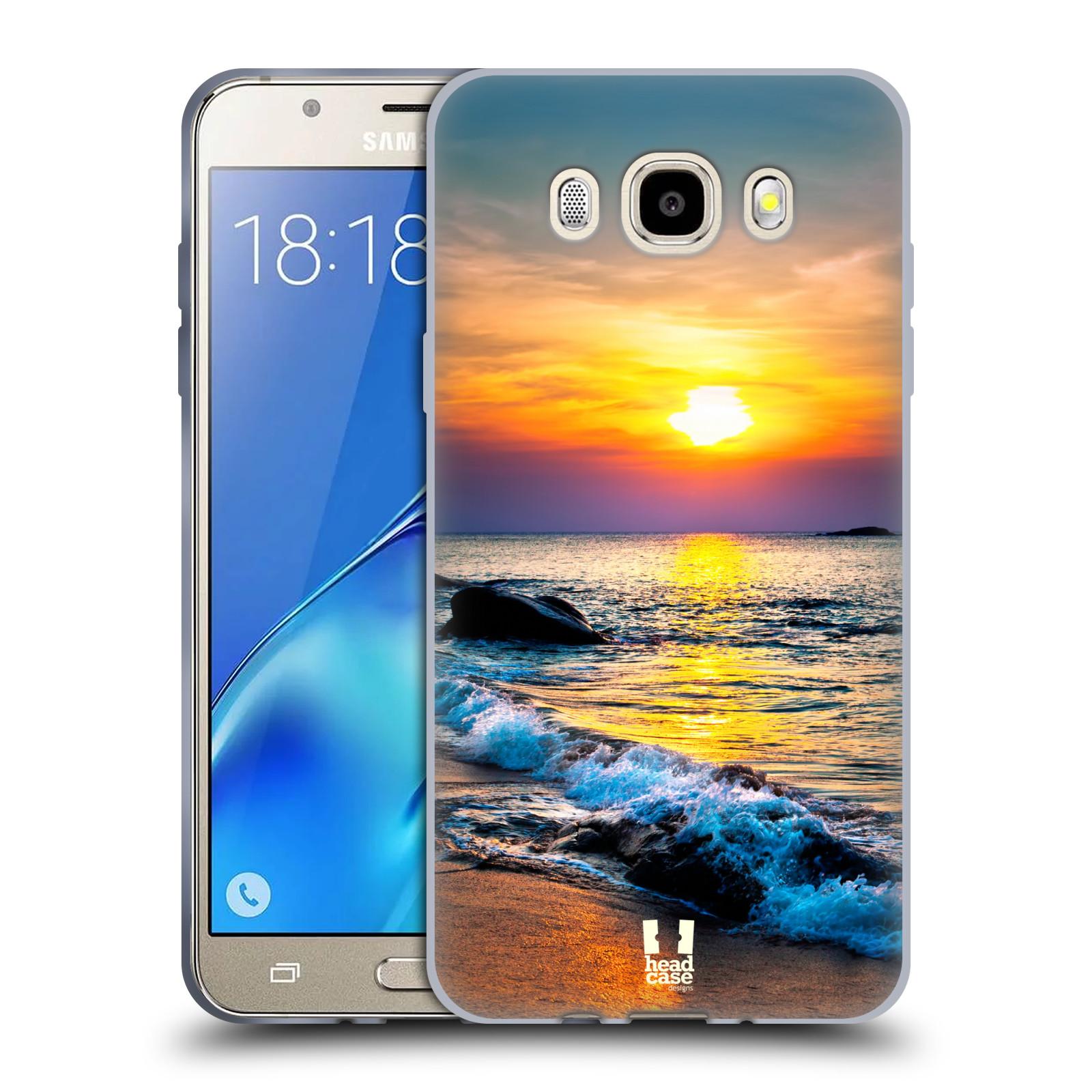 HEAD CASE silikonový obal, kryt na mobil Samsung Galaxy J5 2016, J510, J510F, (J510F DUAL SIM) vzor Pláže a Moře barevný západ slunce