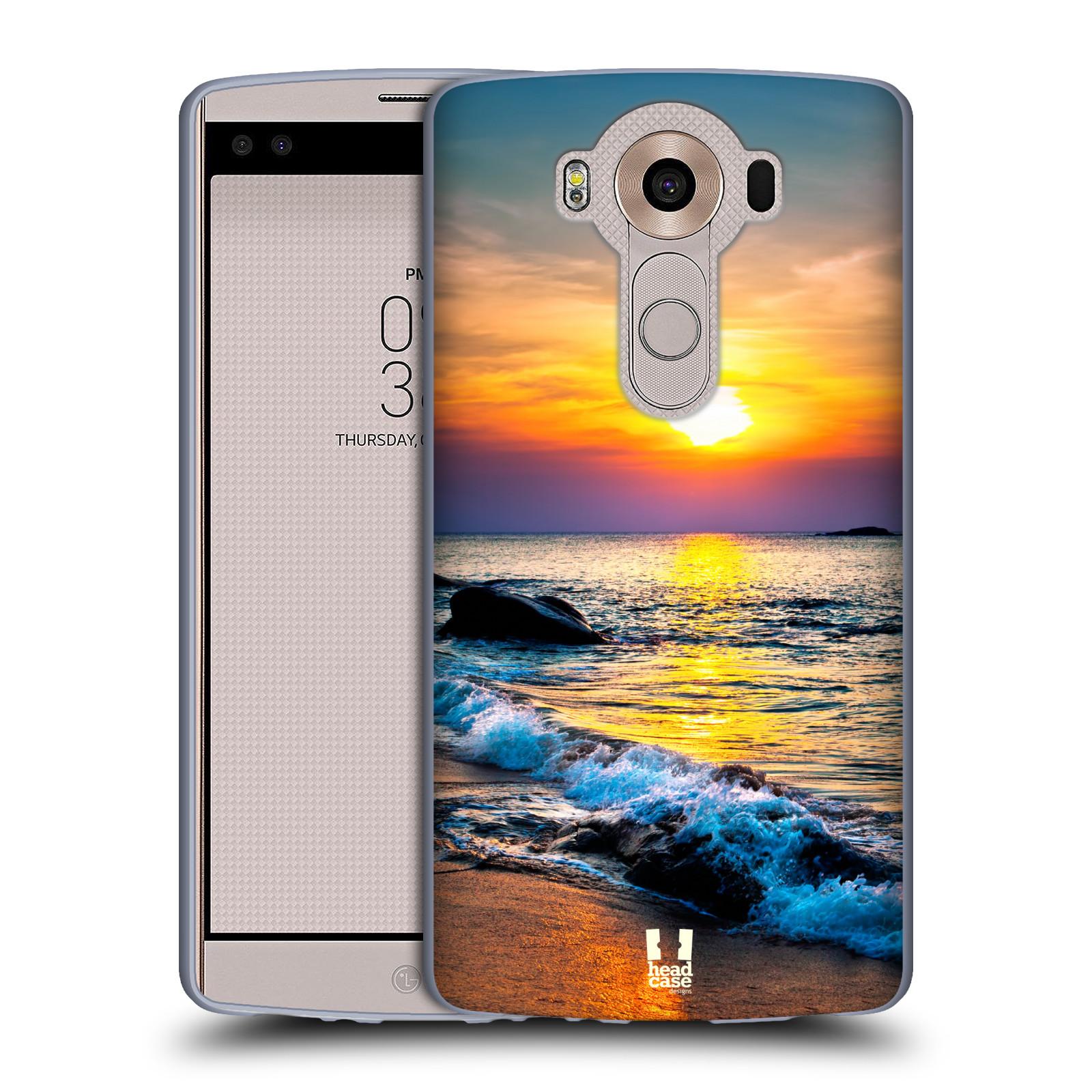 HEAD CASE silikonový obal na mobil LG V10 (H960A) vzor Pláže a Moře barevný západ slunce