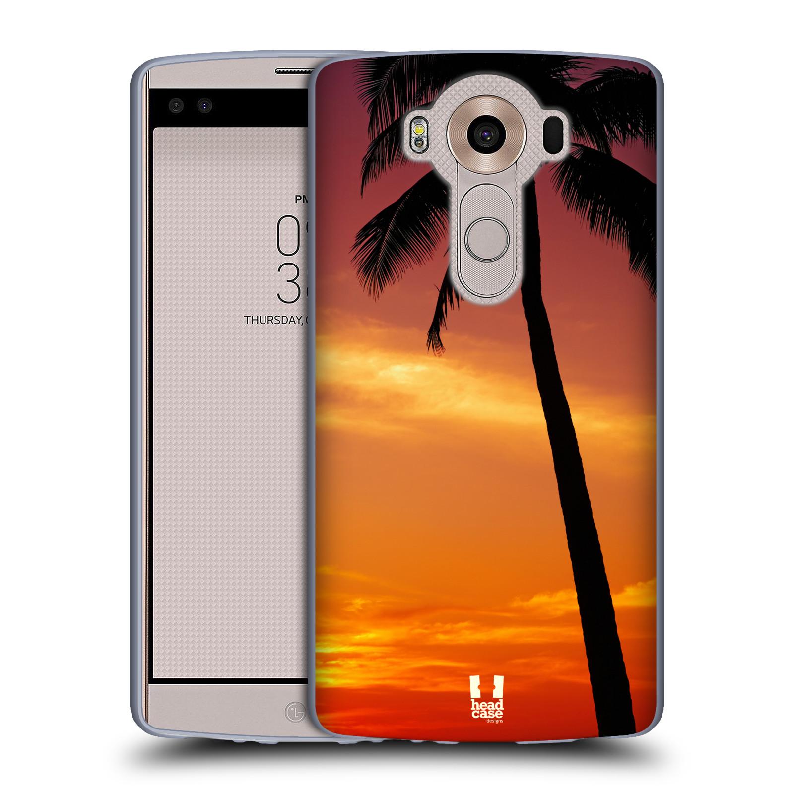 HEAD CASE silikonový obal na mobil LG V10 (H960A) vzor Pláže a Moře ZÁPAD SLUNCE PALMA