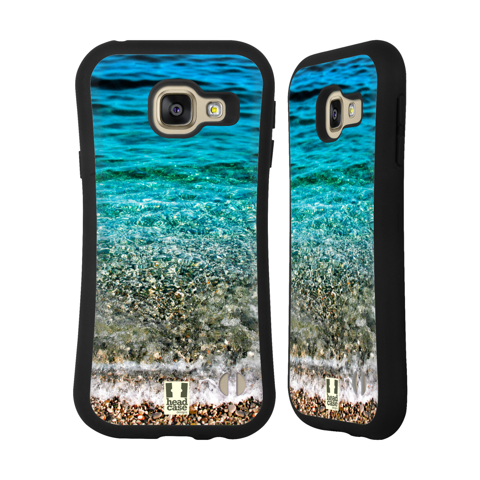 HEAD CASE silikon/plast odolný obal na mobil Samsung Galaxy A3 2016 vzor Pláže a Moře PRŮZRAČNÉ MOŘE S OBLÁZKY