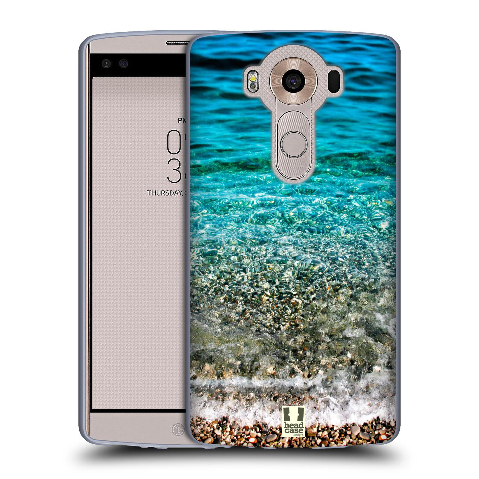 HEAD CASE silikonový obal na mobil LG V10 (H960A) vzor Pláže a Moře PRŮZRAČNÉ MOŘE S OBLÁZKY