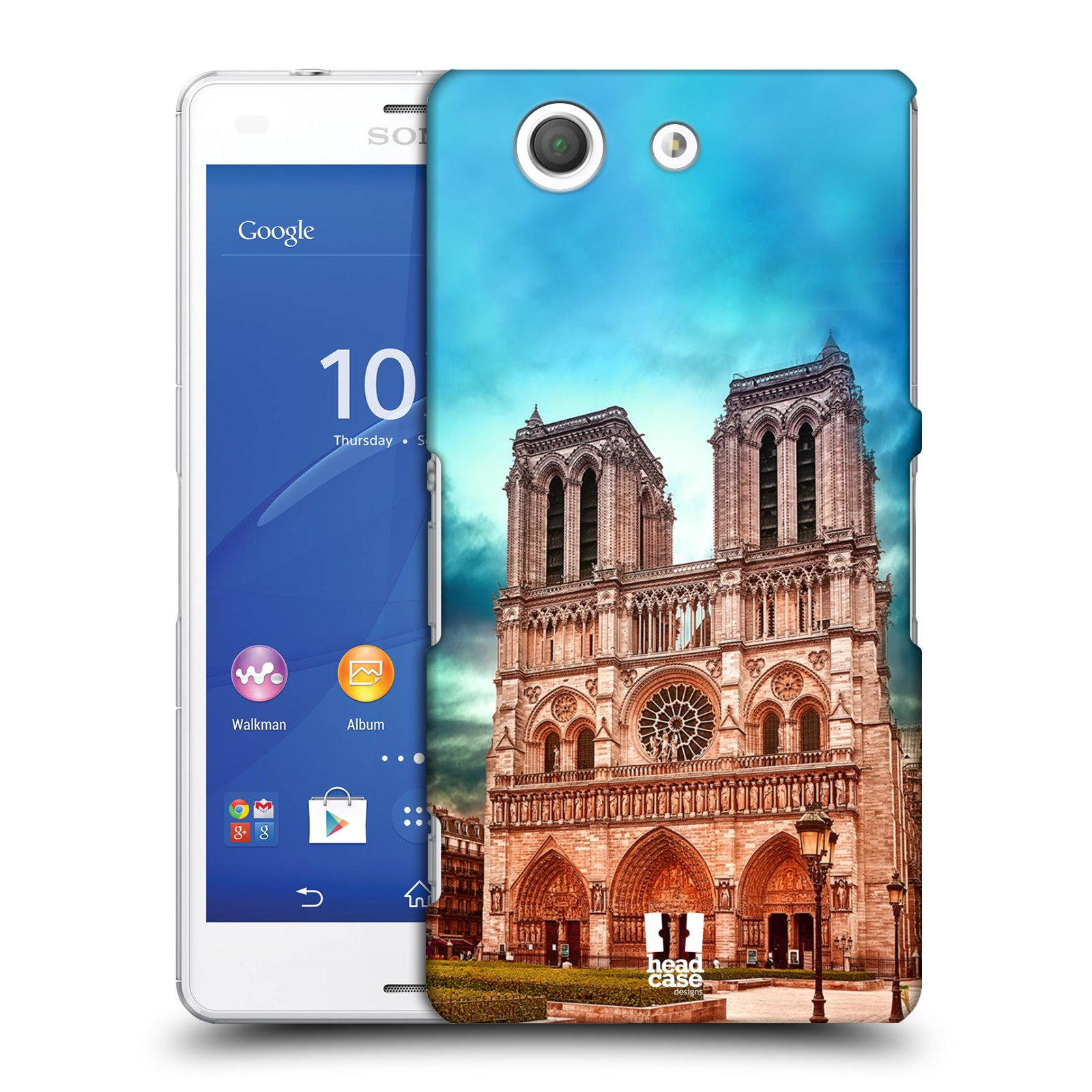 Pouzdro na mobil Sony Xperia Z3 COMPACT - HEAD CASE - historická místa katedrála Notre Dame