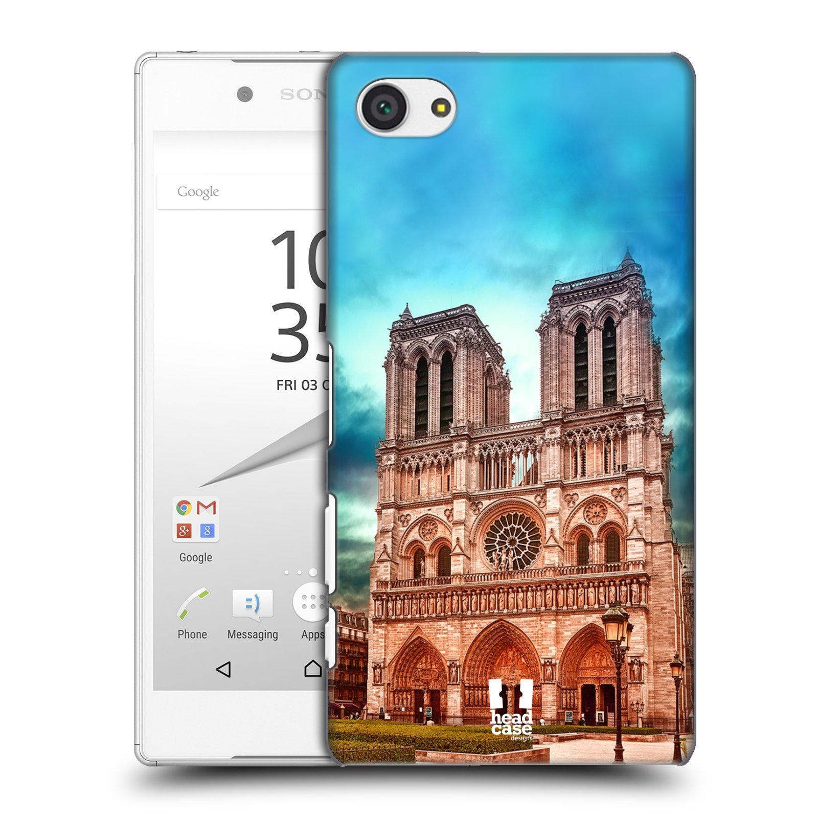 Pouzdro na mobil Sony Xperia Z5 COMPACT - HEAD CASE - historická místa katedrála Notre Dame