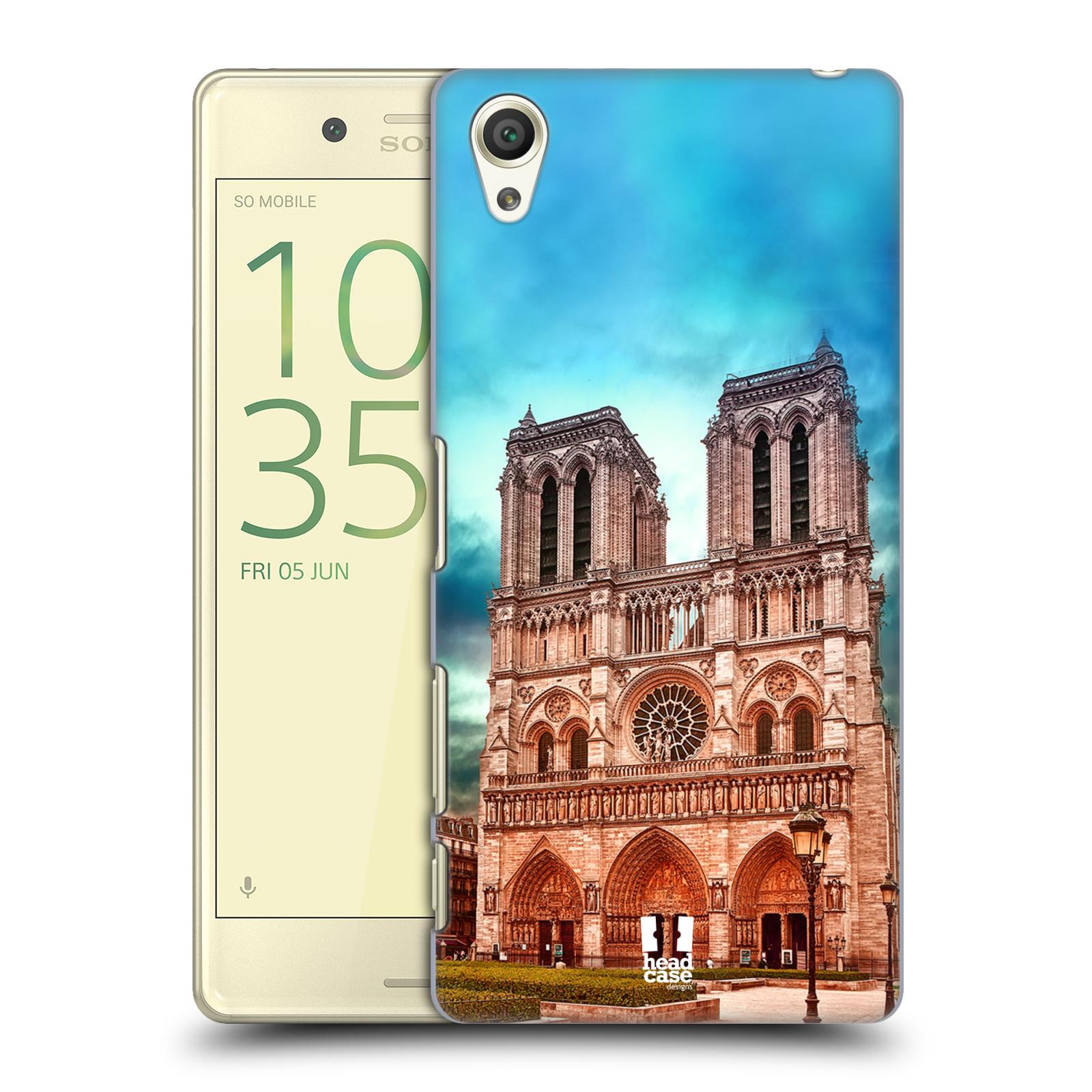 Pouzdro na mobil Sony Xperia X - HEAD CASE - historická místa katedrála Notre Dame