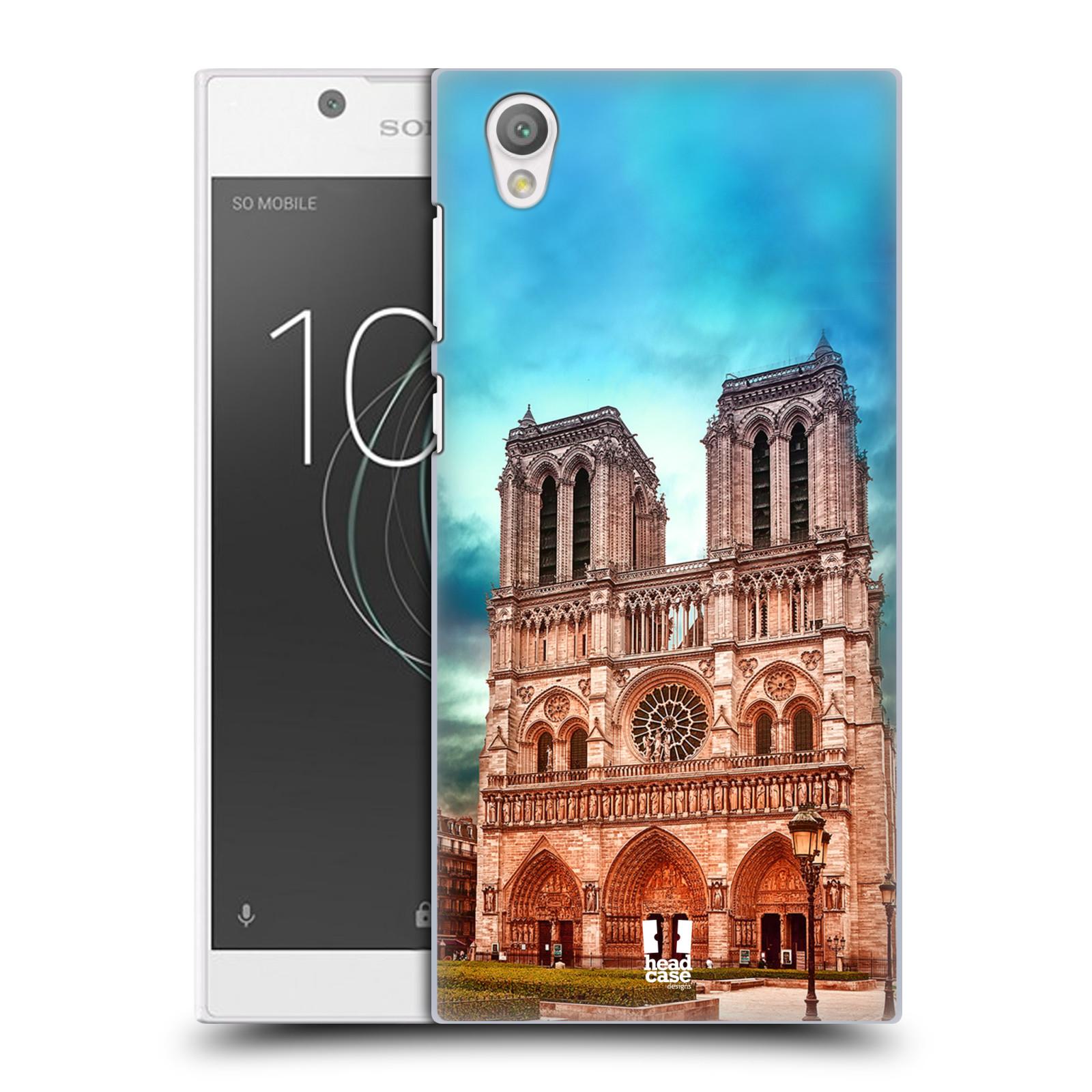 Pouzdro na mobil Sony Xperia L1 - HEAD CASE - historická místa katedrála Notre Dame