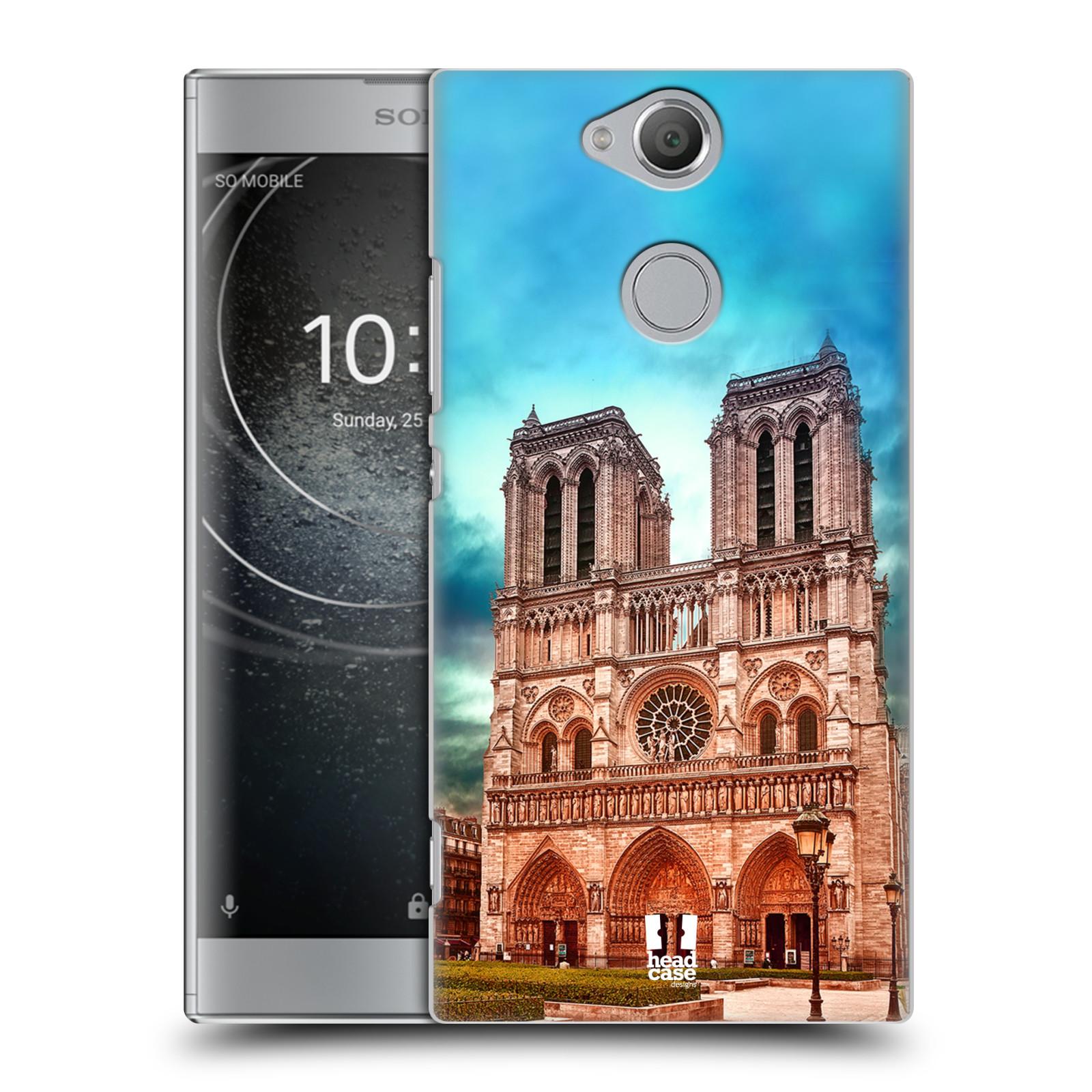 Pouzdro na mobil Sony Xperia XA2 - HEAD CASE - historická místa katedrála Notre Dame