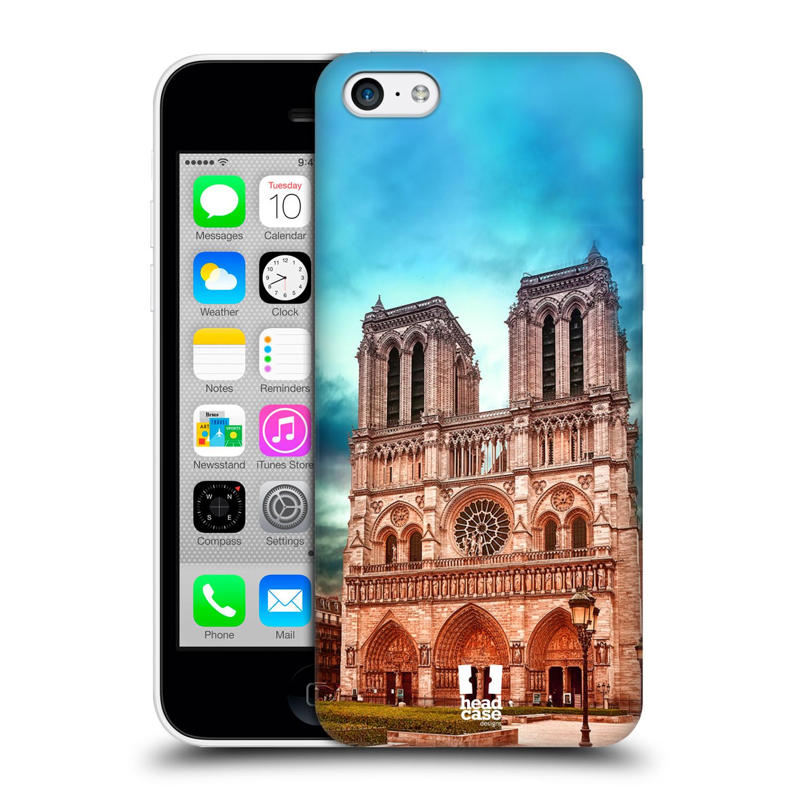 Pouzdro na mobil Apple Iphone 5C - HEAD CASE - historická místa katedrála Notre Dame
