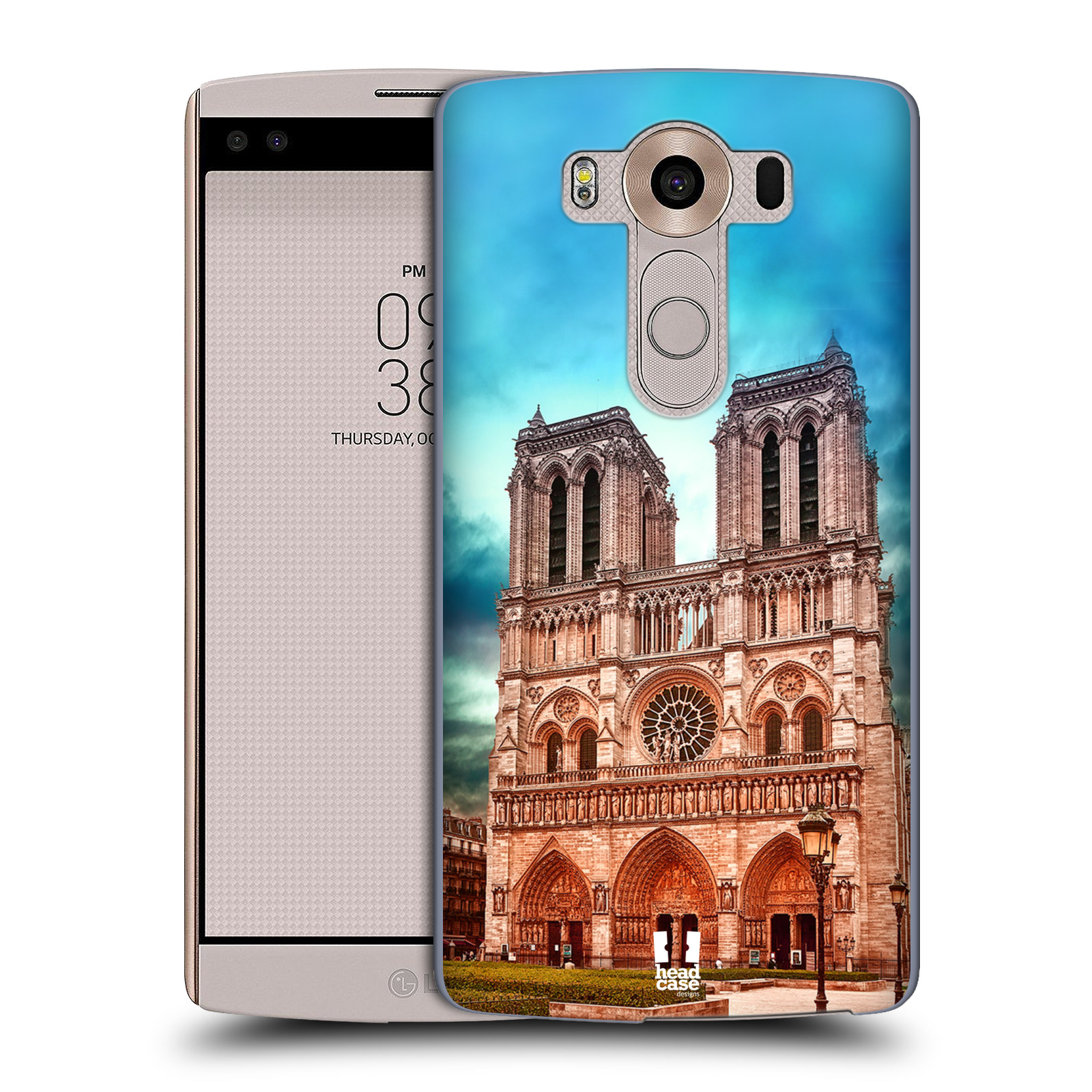 Pouzdro na mobil LG V10 - HEAD CASE - historická místa katedrála Notre Dame