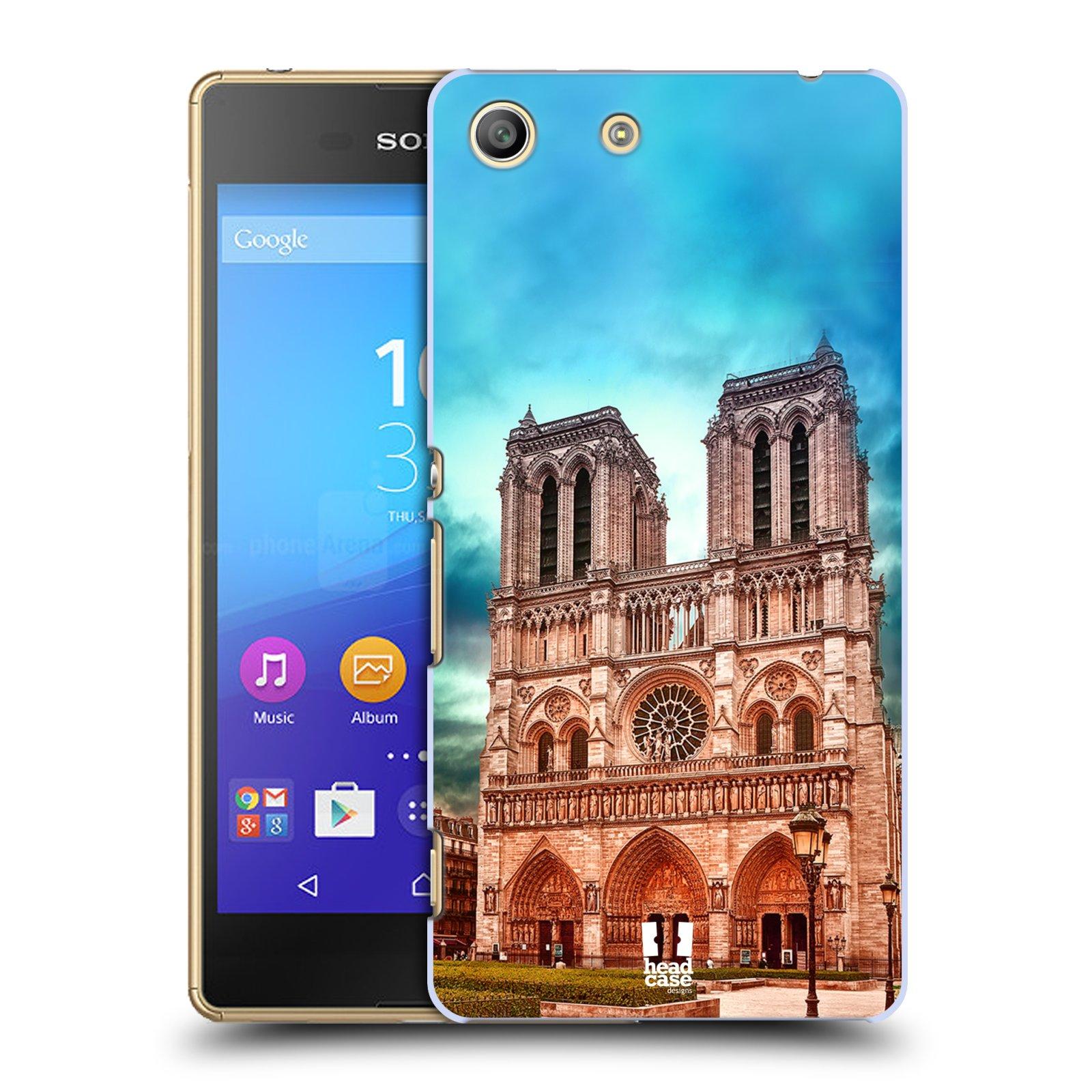 Pouzdro na mobil Sony Xperia M5 - HEAD CASE - historická místa katedrála Notre Dame