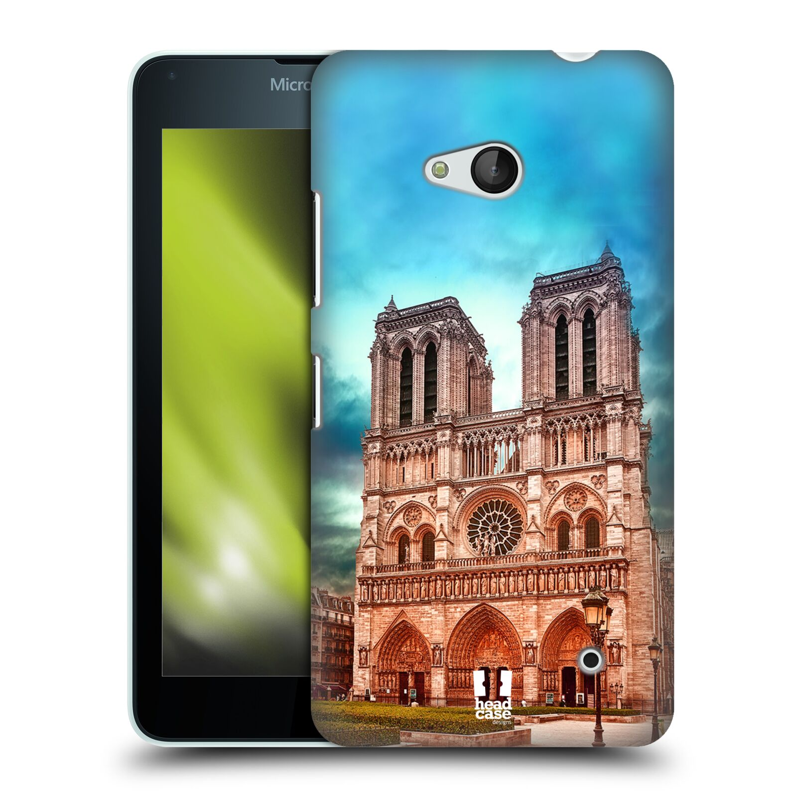 Pouzdro na mobil Microsoft Lumia 640 / 640 DUAL SIM - HEAD CASE - historická místa katedrála Notre Dame