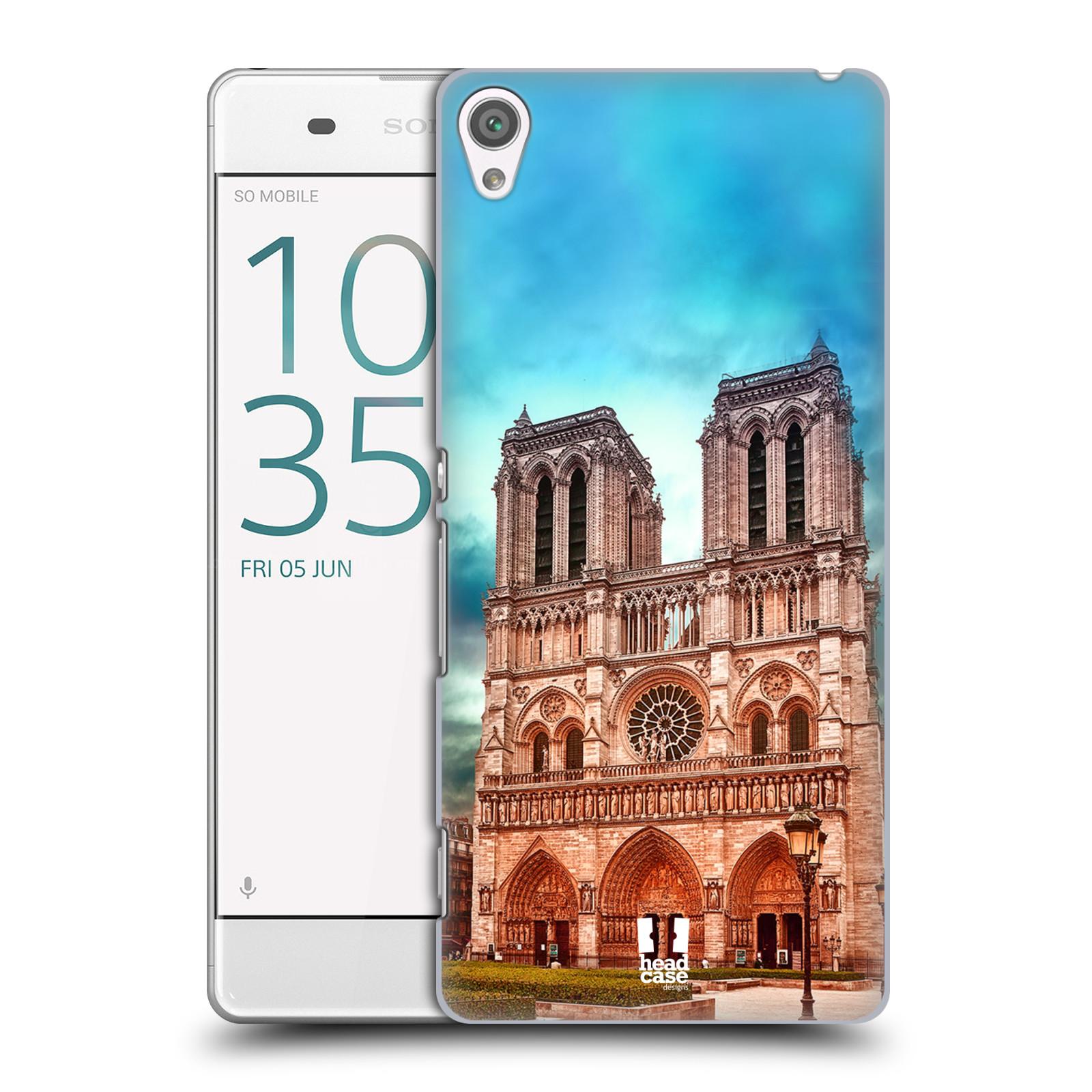 Pouzdro na mobil Sony Xperia XA - HEAD CASE - historická místa katedrála Notre Dame