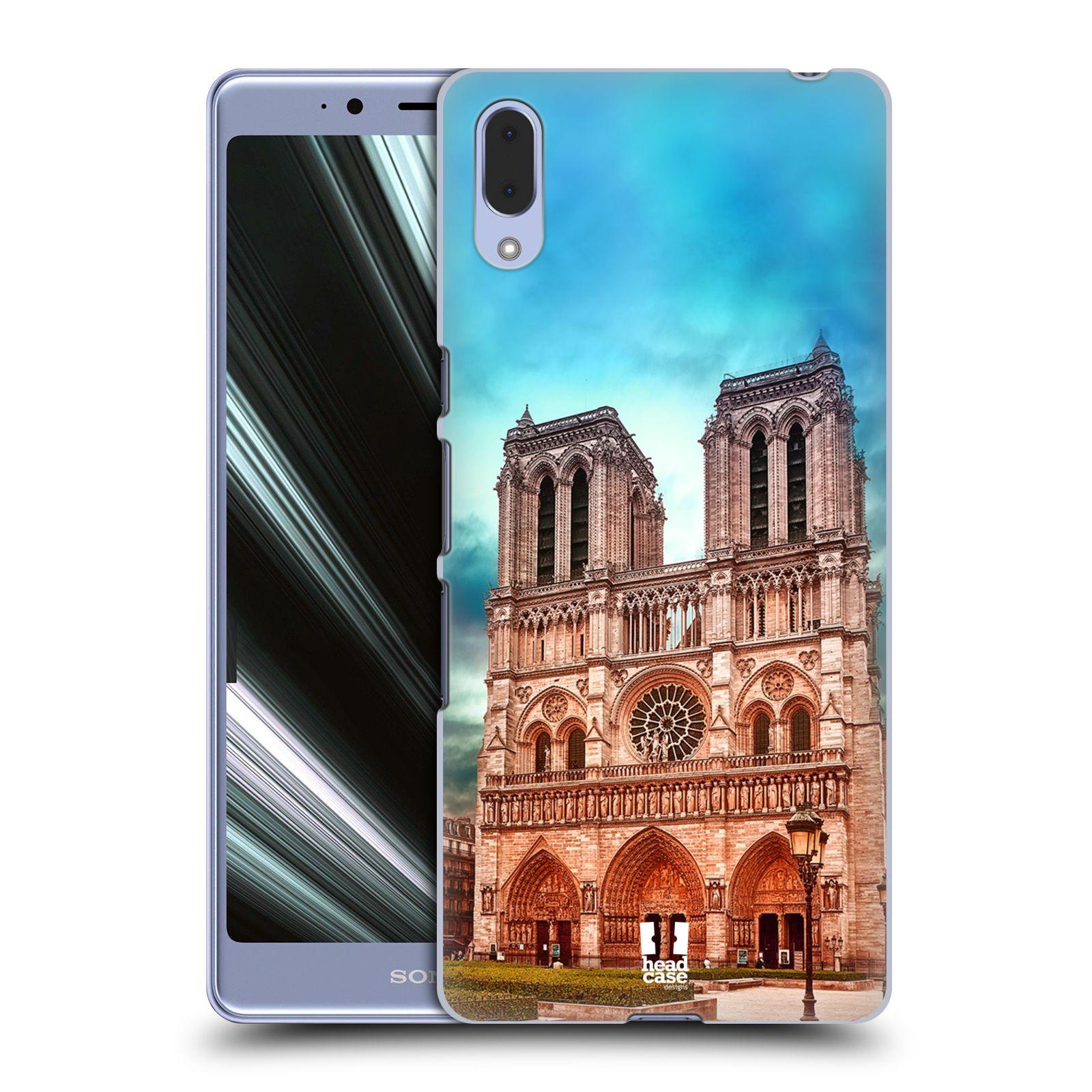 Pouzdro na mobil Sony Xperia L3 - HEAD CASE - historická místa katedrála Notre Dame