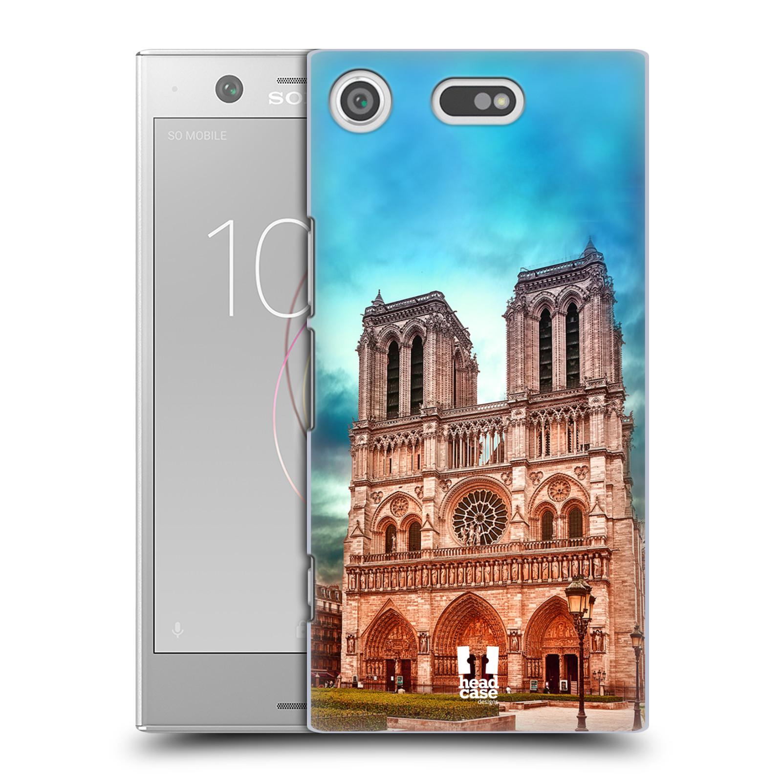 Pouzdro na mobil Sony Xperia XZ1 COMPACT - HEAD CASE - historická místa katedrála Notre Dame
