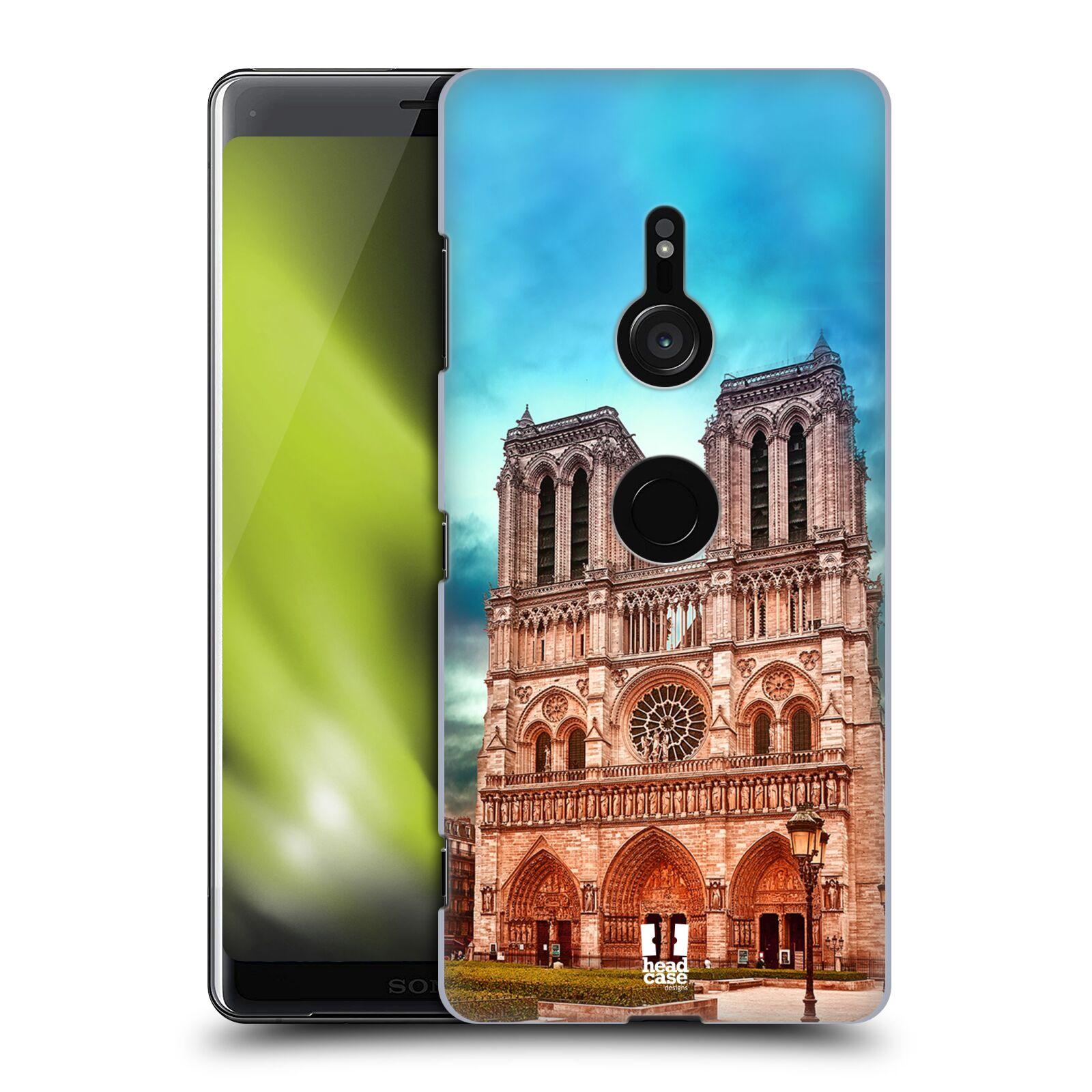 Pouzdro na mobil Sony Xperia XZ3 - HEAD CASE - historická místa katedrála Notre Dame