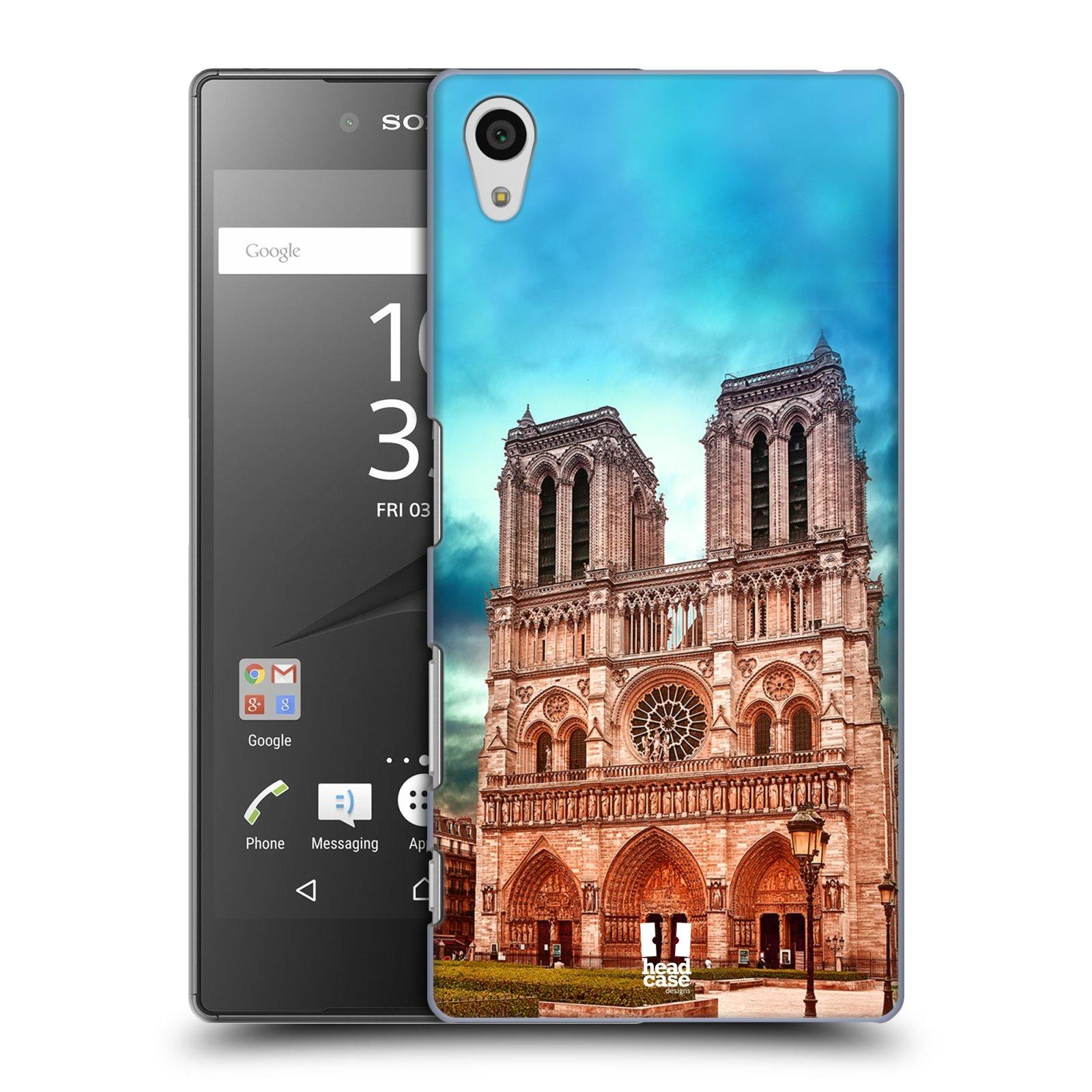 Pouzdro na mobil Sony Xperia Z5 - HEAD CASE - historická místa katedrála Notre Dame