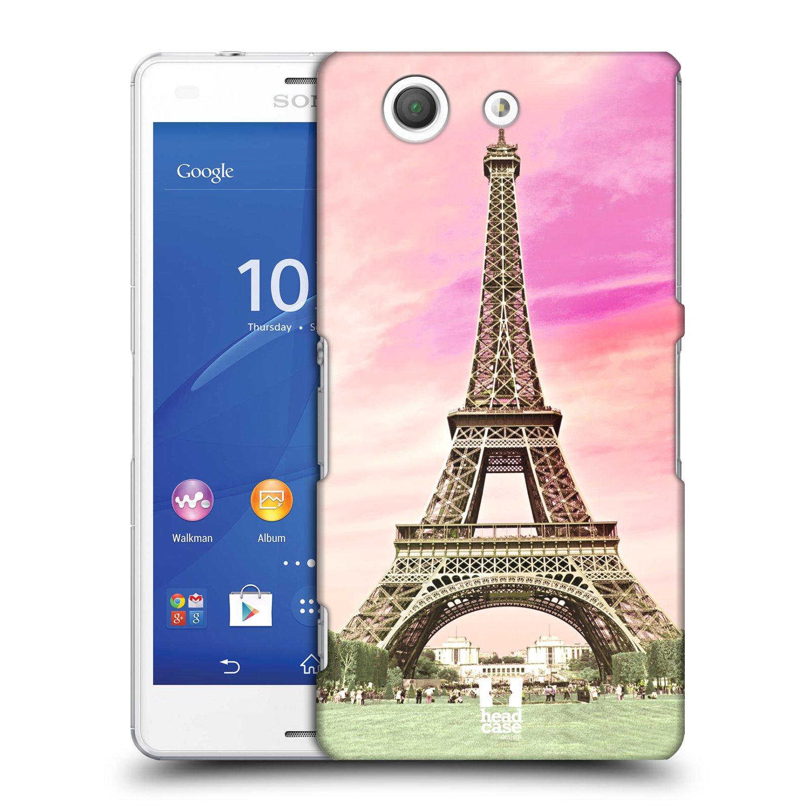 Pouzdro na mobil Sony Xperia Z3 COMPACT - HEAD CASE - historická místa Eiffelova věž Paříž