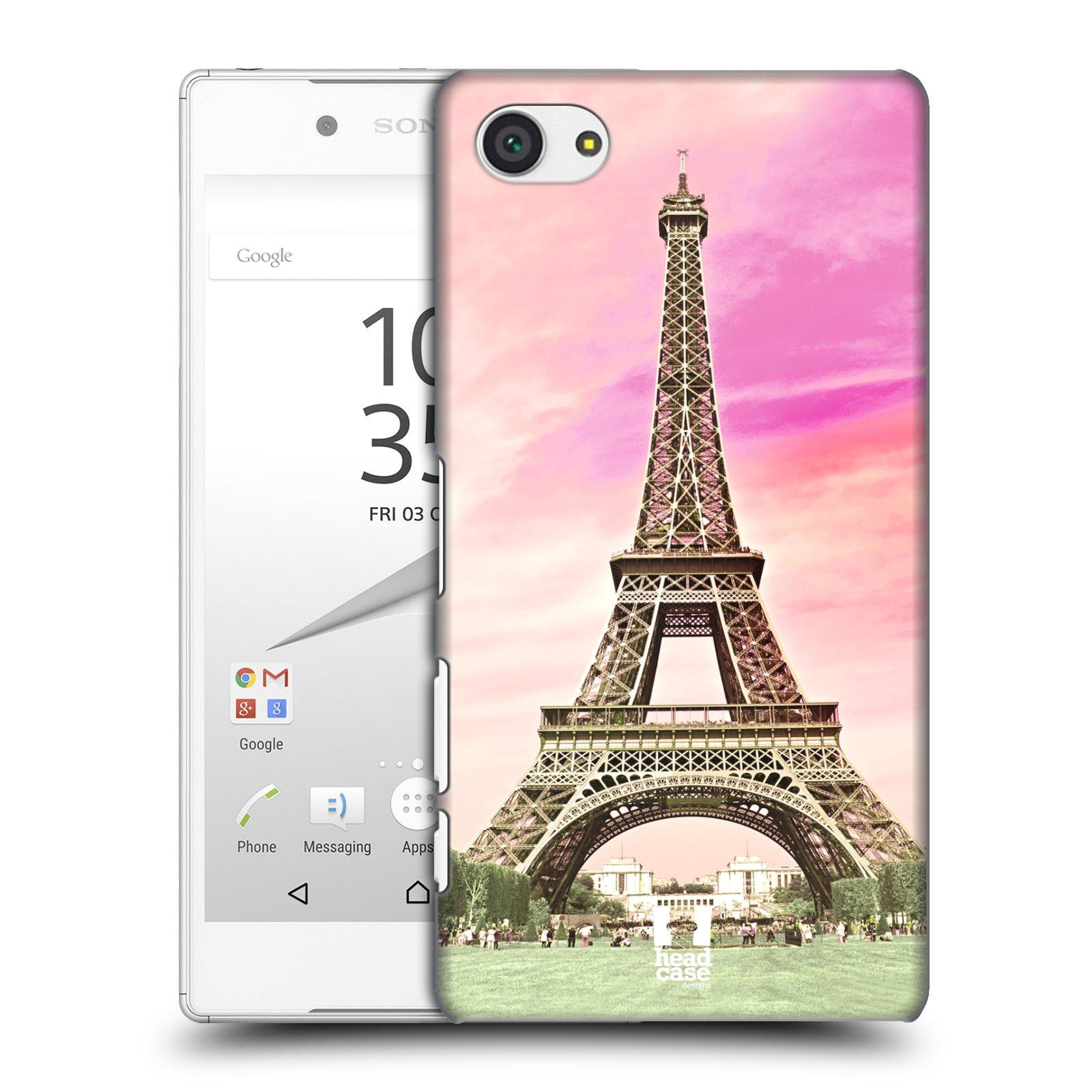 Pouzdro na mobil Sony Xperia Z5 COMPACT - HEAD CASE - historická místa Eiffelova věž Paříž