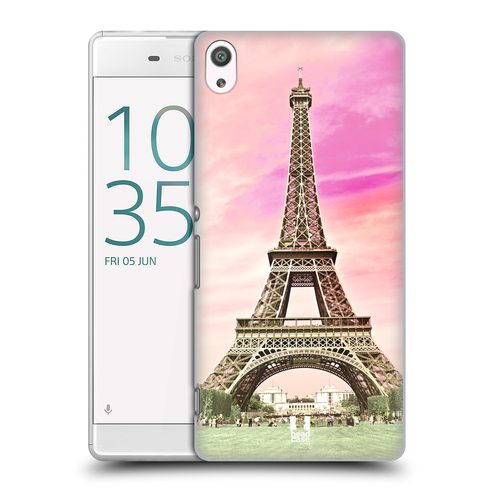 Pouzdro na mobil Sony Xperia XA ULTRA - HEAD CASE - historická místa Eiffelova věž Paříž