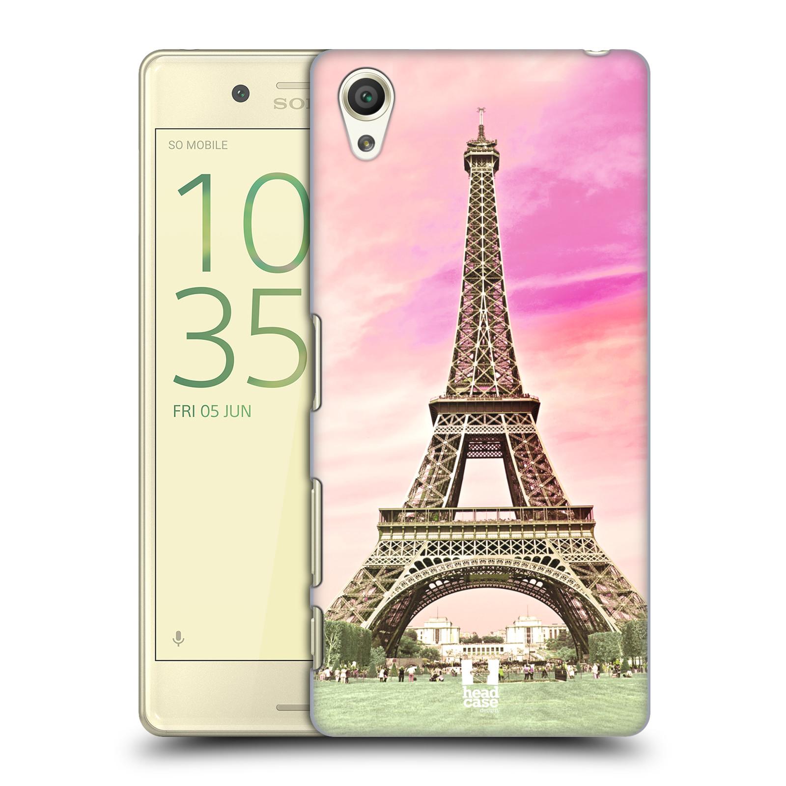 Pouzdro na mobil Sony Xperia X - HEAD CASE - historická místa Eiffelova věž Paříž