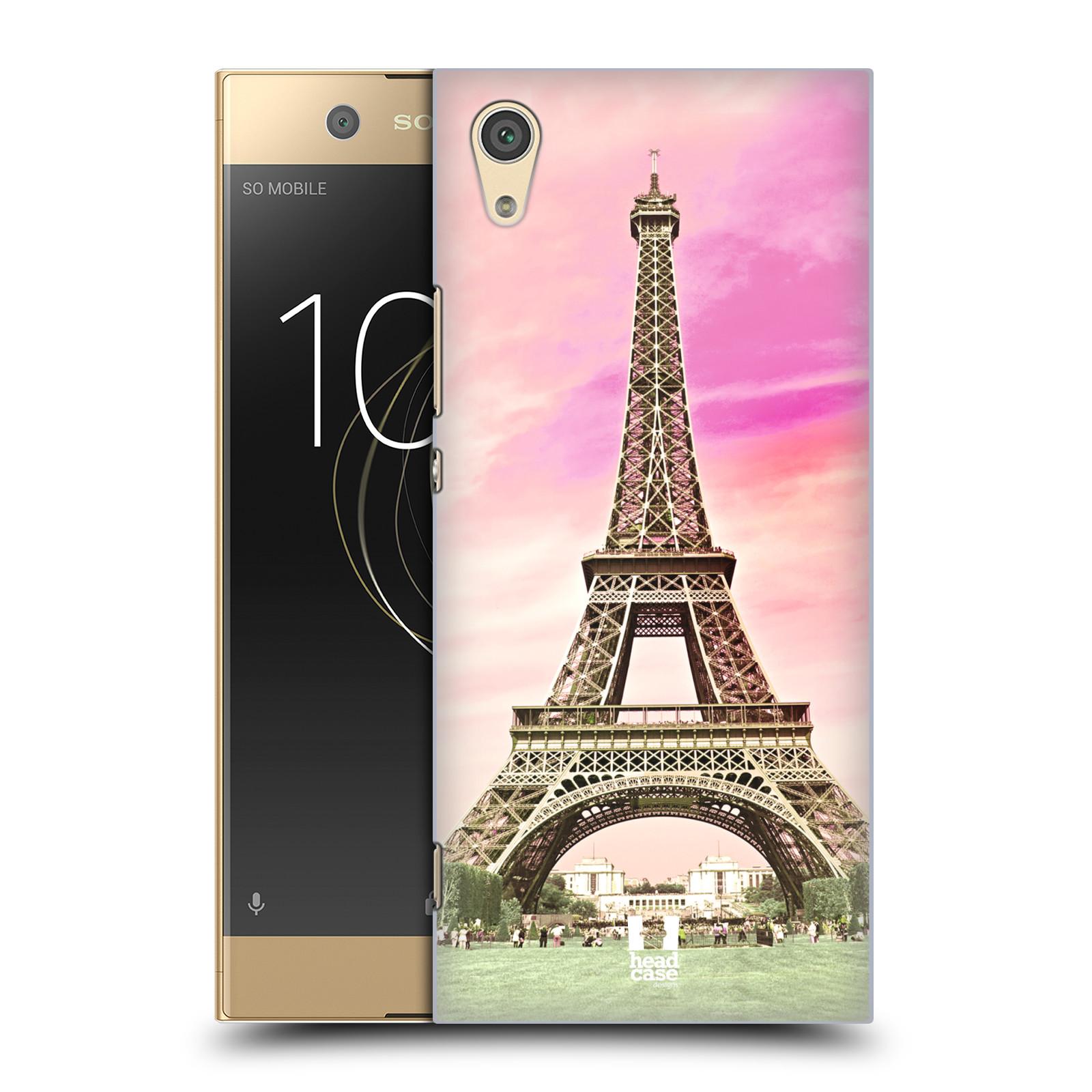 Pouzdro na mobil Sony Xperia XA1 - HEAD CASE - historická místa Eiffelova věž Paříž