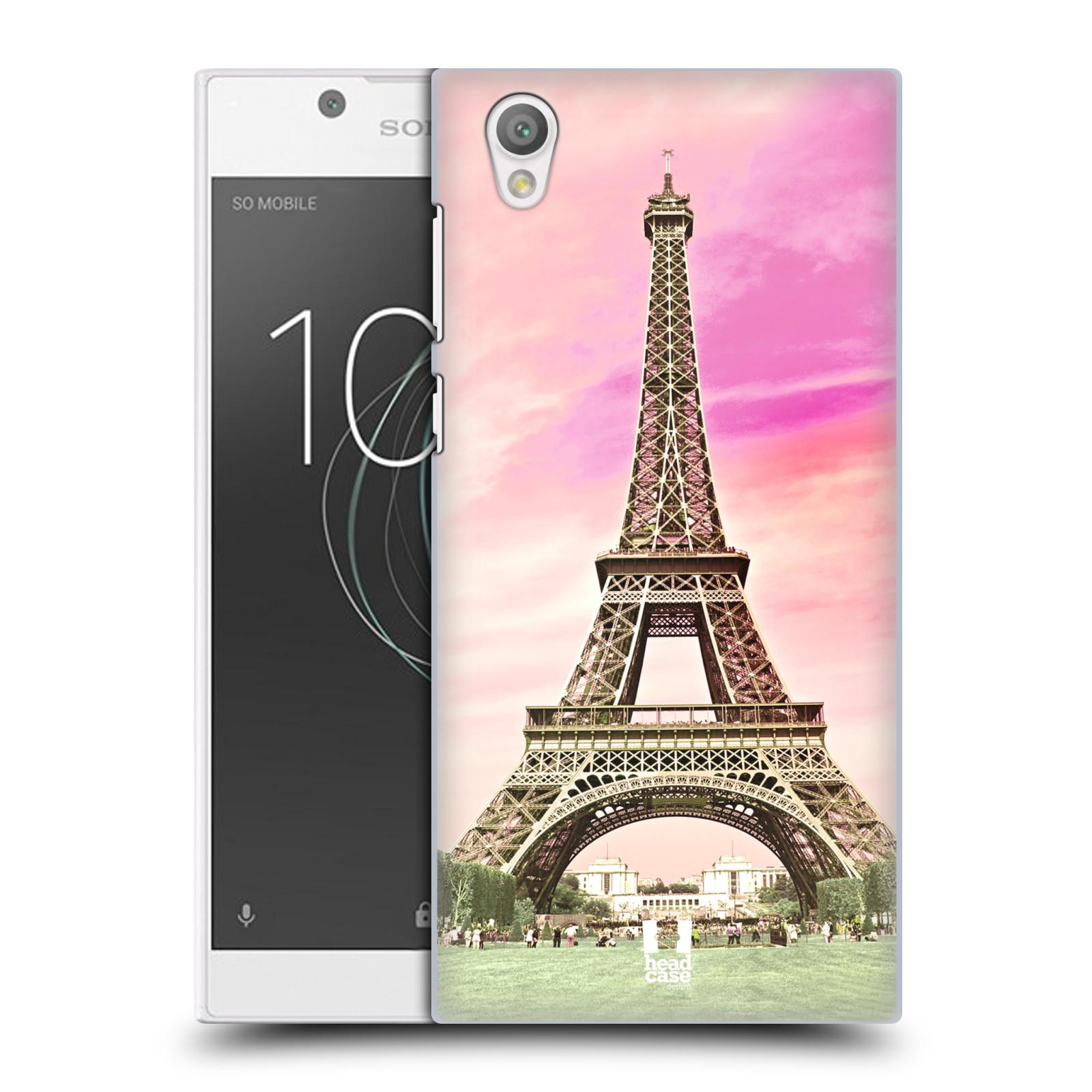 Pouzdro na mobil Sony Xperia L1 - HEAD CASE - historická místa Eiffelova věž Paříž