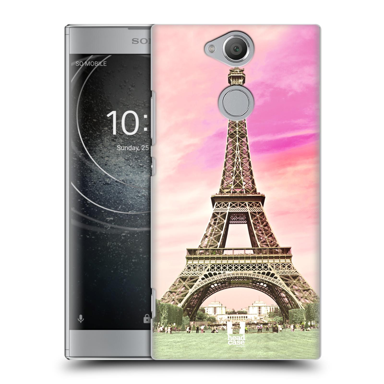 Pouzdro na mobil Sony Xperia XA2 - HEAD CASE - historická místa Eiffelova věž Paříž