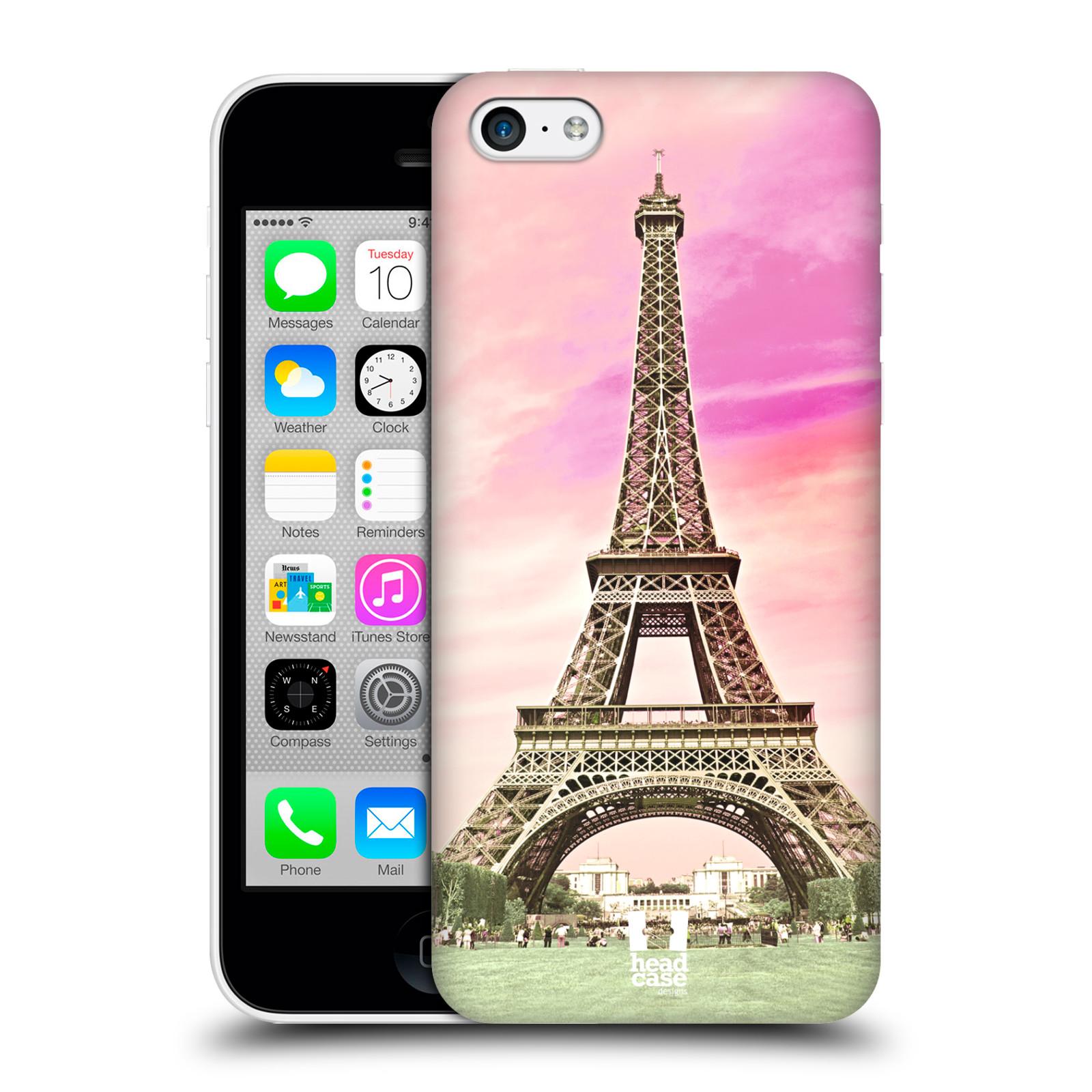 Pouzdro na mobil Apple Iphone 5C - HEAD CASE - historická místa Eiffelova věž Paříž