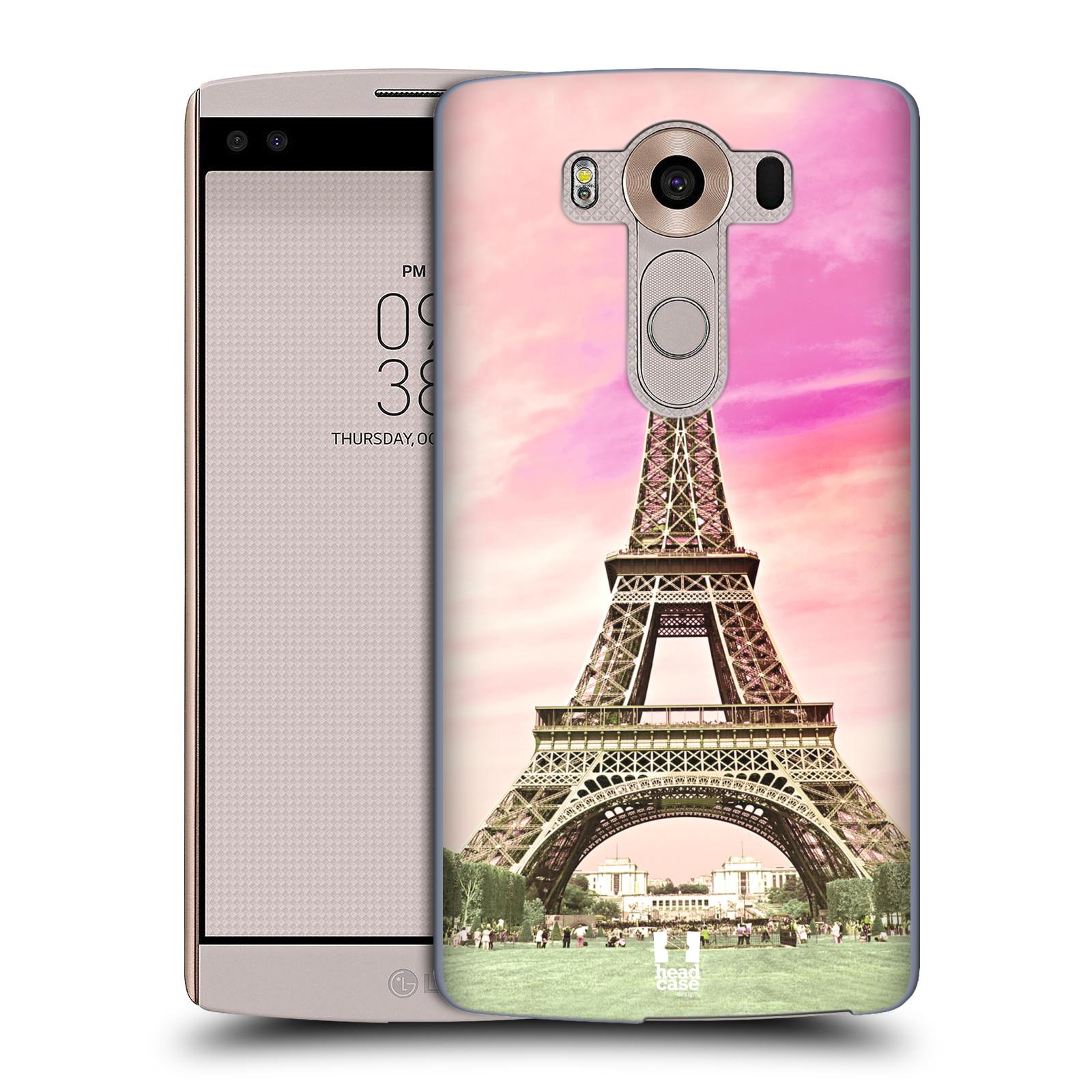 Pouzdro na mobil LG V10 - HEAD CASE - historická místa Eiffelova věž Paříž