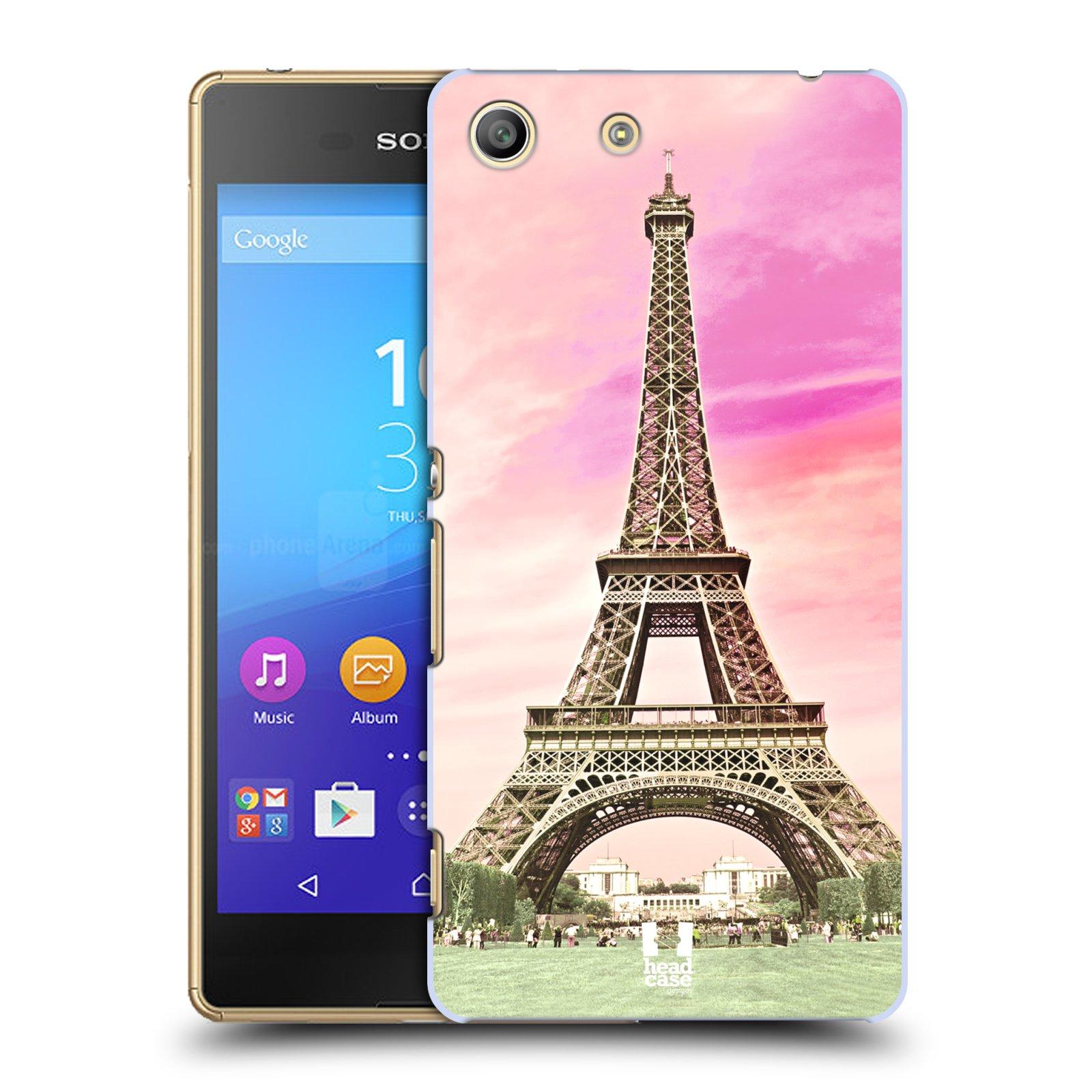 Pouzdro na mobil Sony Xperia M5 - HEAD CASE - historická místa Eiffelova věž Paříž