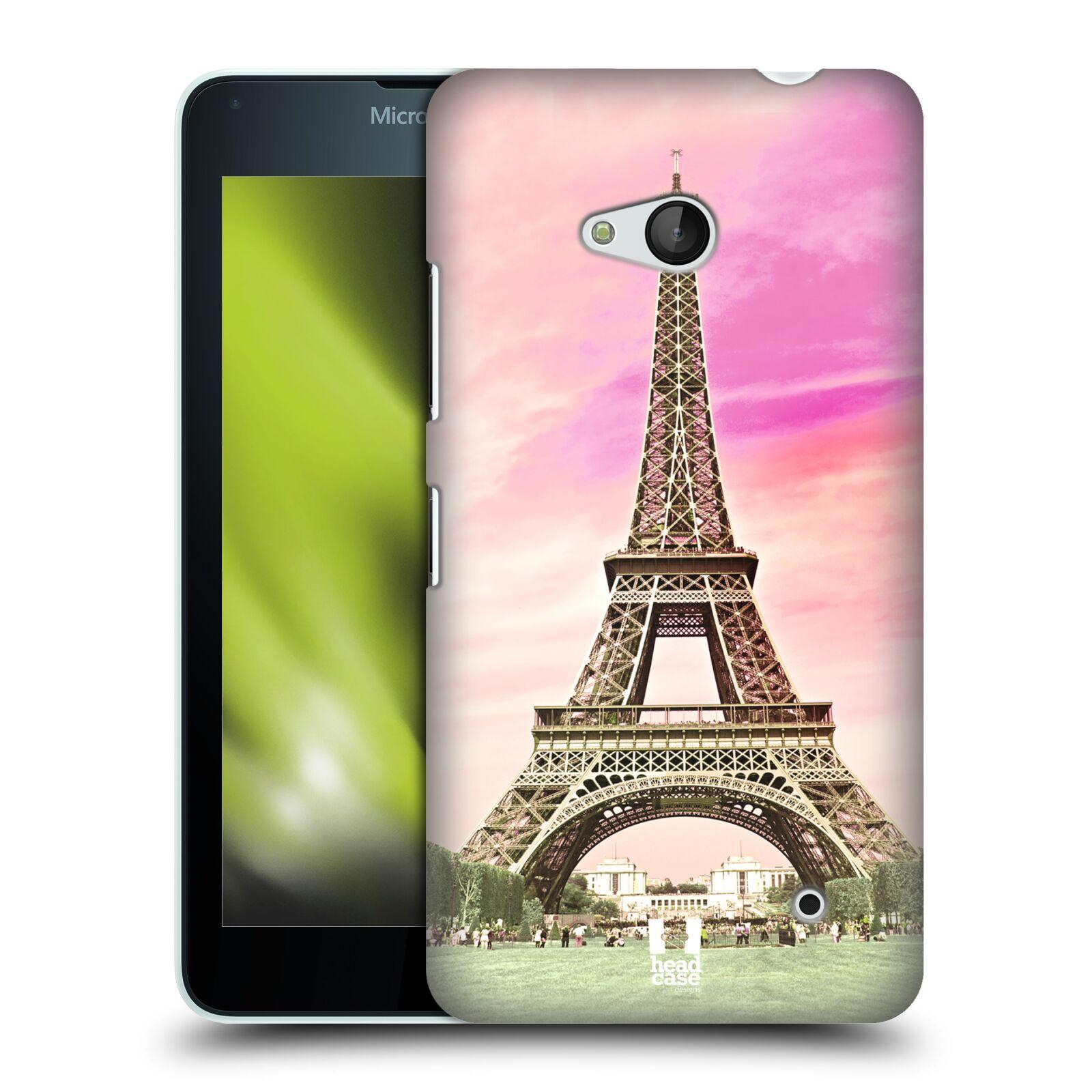 Pouzdro na mobil Microsoft Lumia 640 / 640 DUAL SIM - HEAD CASE - historická místa Eiffelova věž Paříž