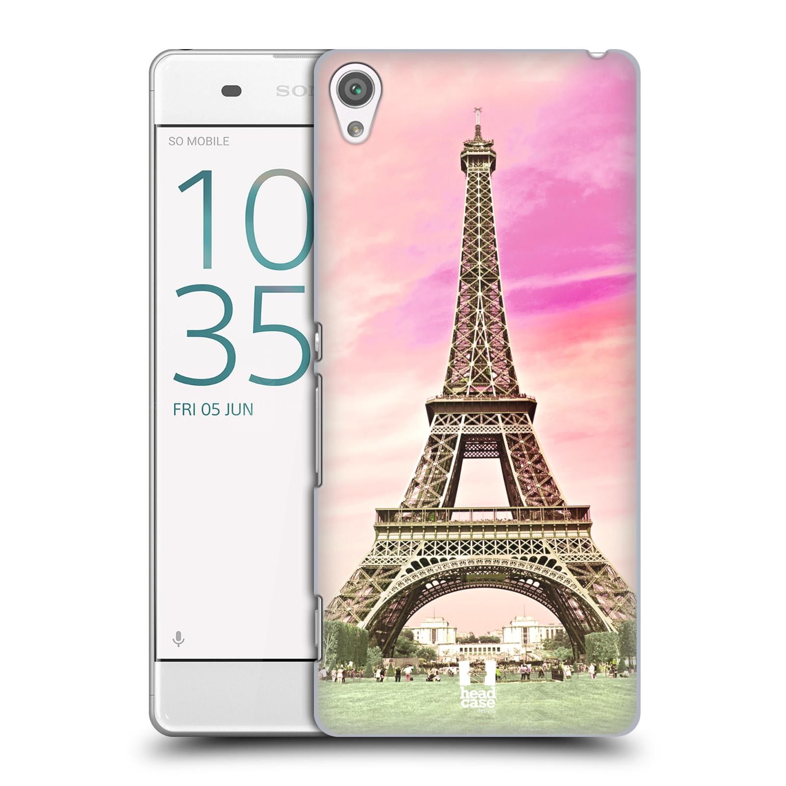 Pouzdro na mobil Sony Xperia XA - HEAD CASE - historická místa Eiffelova věž Paříž