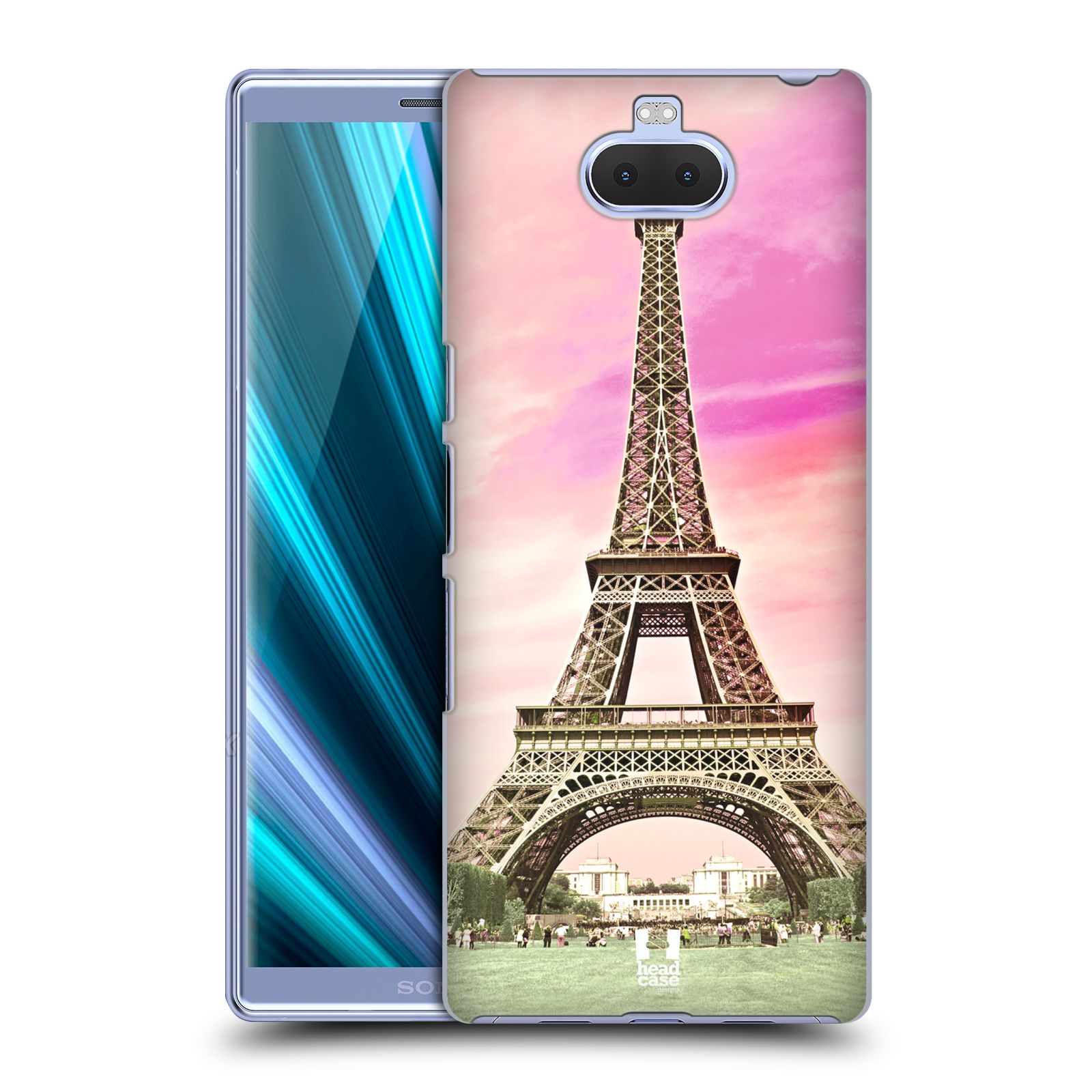 Pouzdro na mobil Sony Xperia 10 Plus - HEAD CASE - historická místa Eiffelova věž Paříž