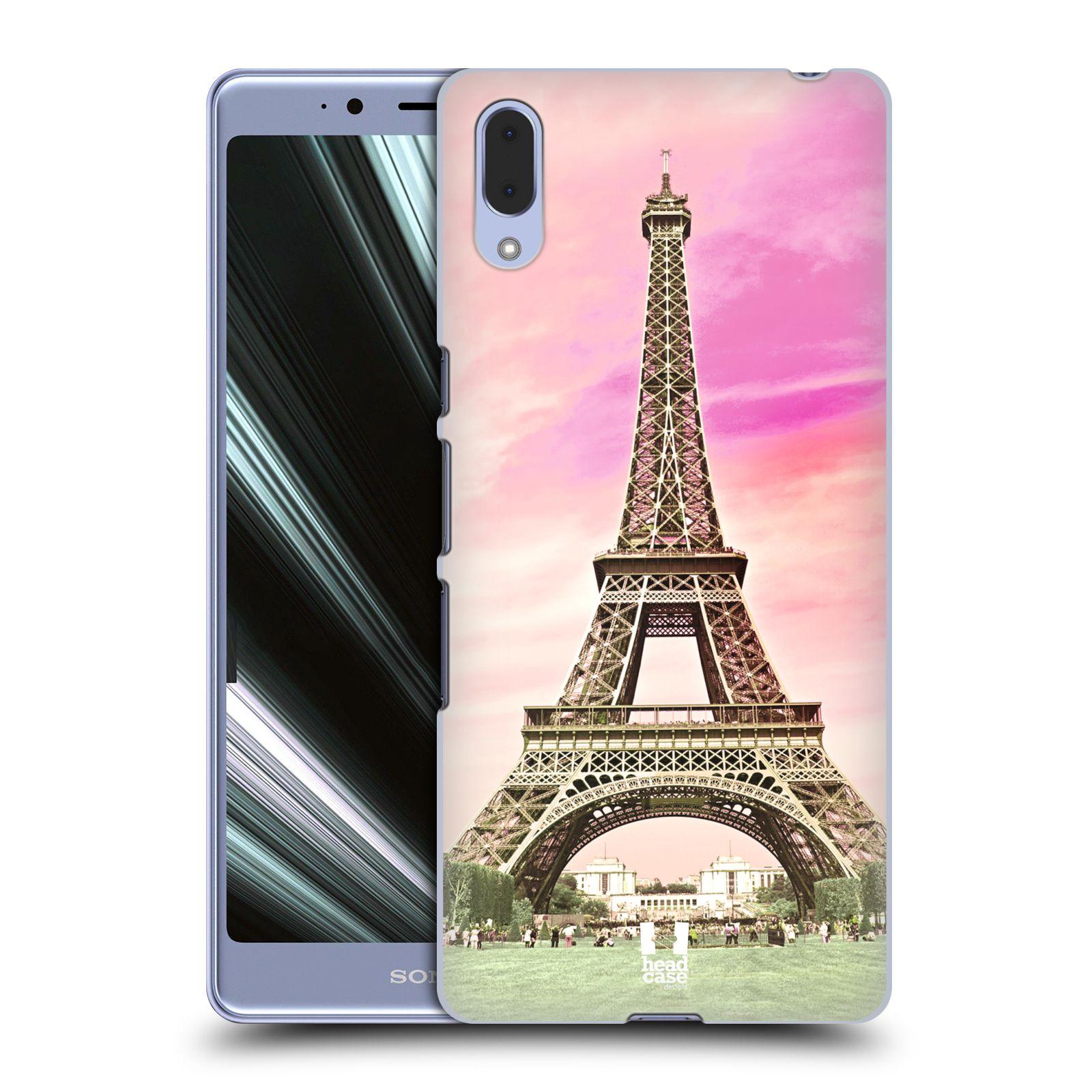 Pouzdro na mobil Sony Xperia L3 - HEAD CASE - historická místa Eiffelova věž Paříž