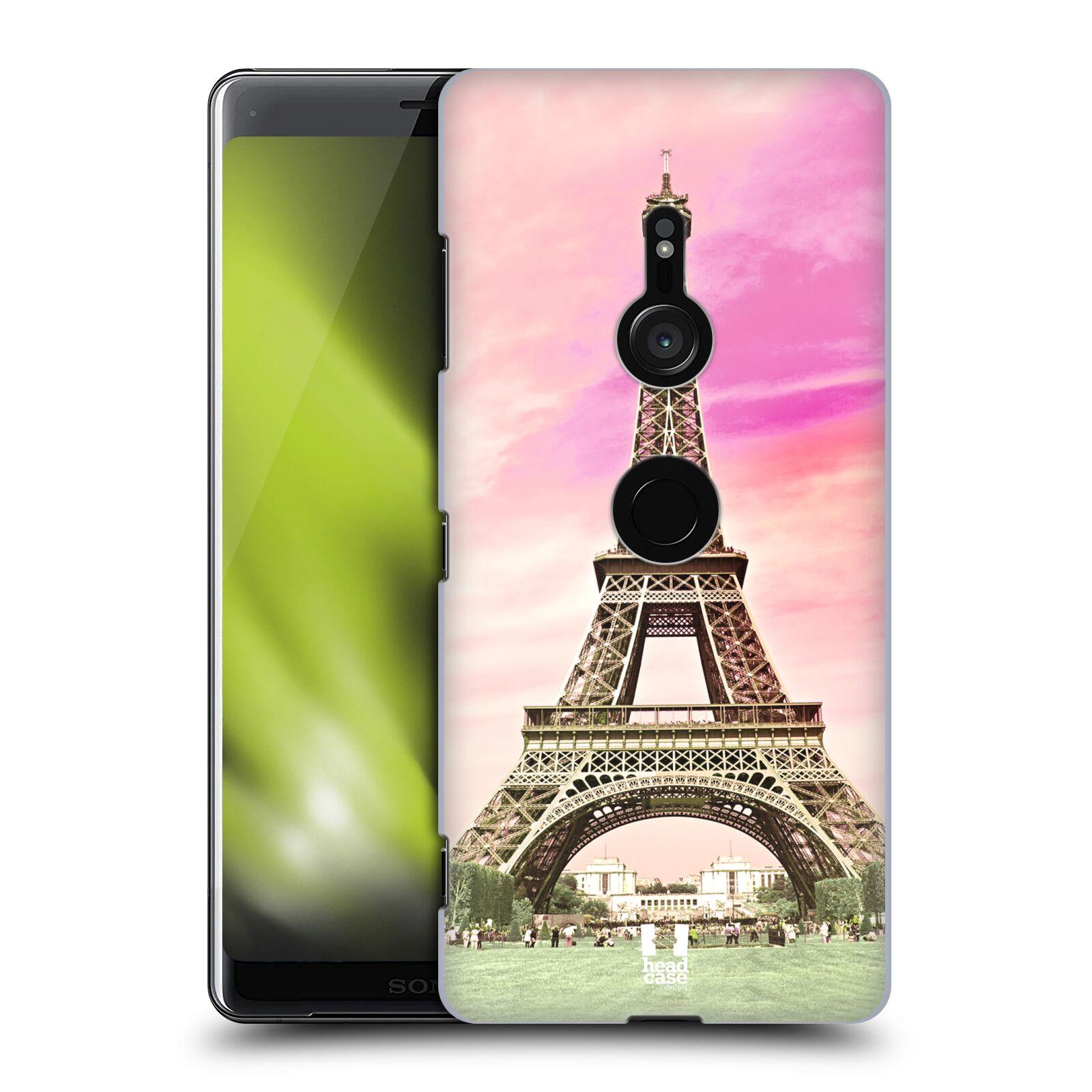 Pouzdro na mobil Sony Xperia XZ3 - HEAD CASE - historická místa Eiffelova věž Paříž