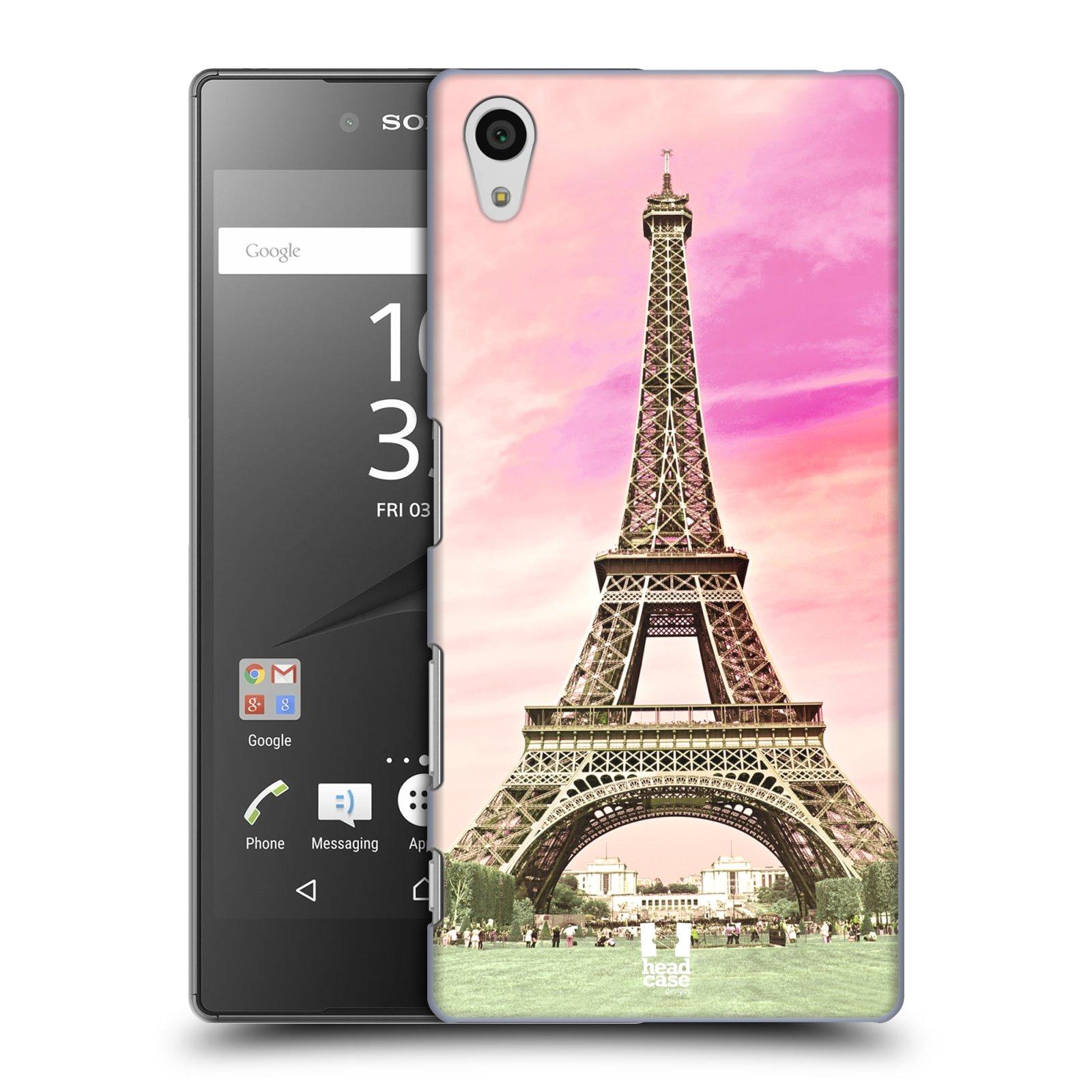 Pouzdro na mobil Sony Xperia Z5 - HEAD CASE - historická místa Eiffelova věž Paříž