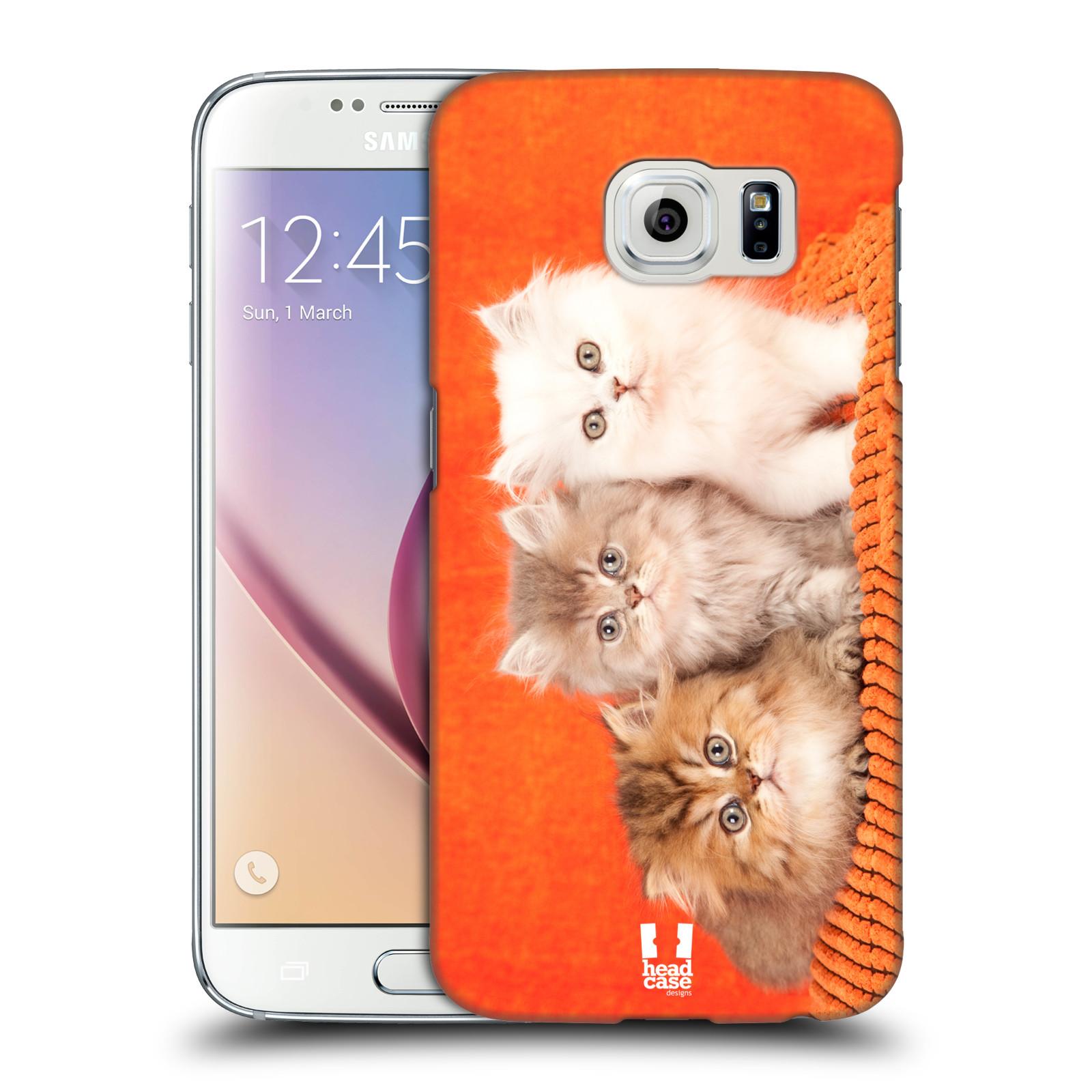 HEAD CASE plastový obal na mobil SAMSUNG Galaxy S6 (G9200, G920F) vzor Kočičky koťata foto 3 kočky