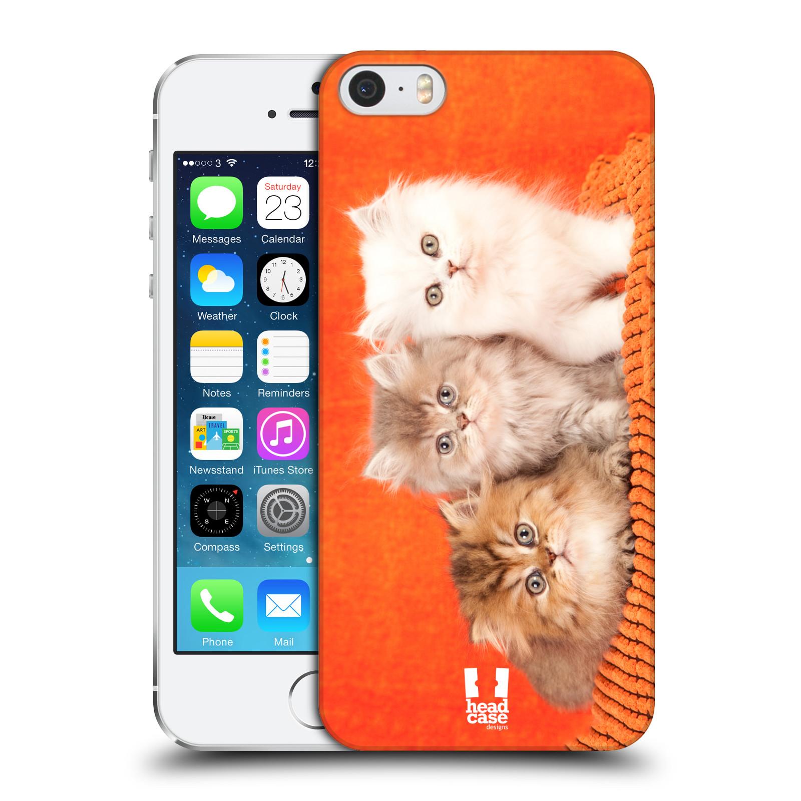 Plastové pouzdro pro mobil Apple Iphone 5   5S   SE vzor Kočičky koťata  foto 3 kočky 047c9fd9260
