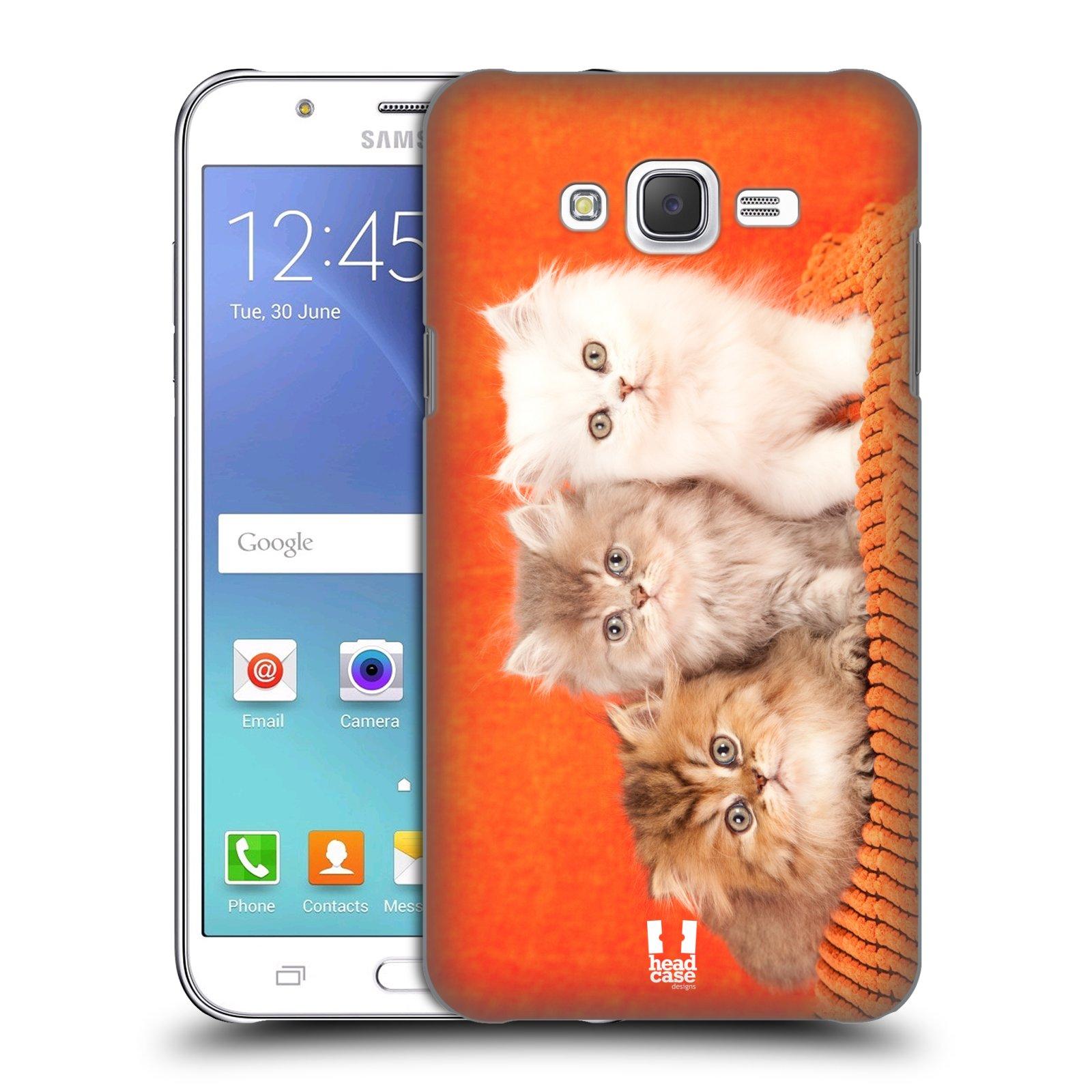 HEAD CASE plastový obal na mobil SAMSUNG Galaxy J7, J700 vzor Kočičky koťata foto 3 kočky