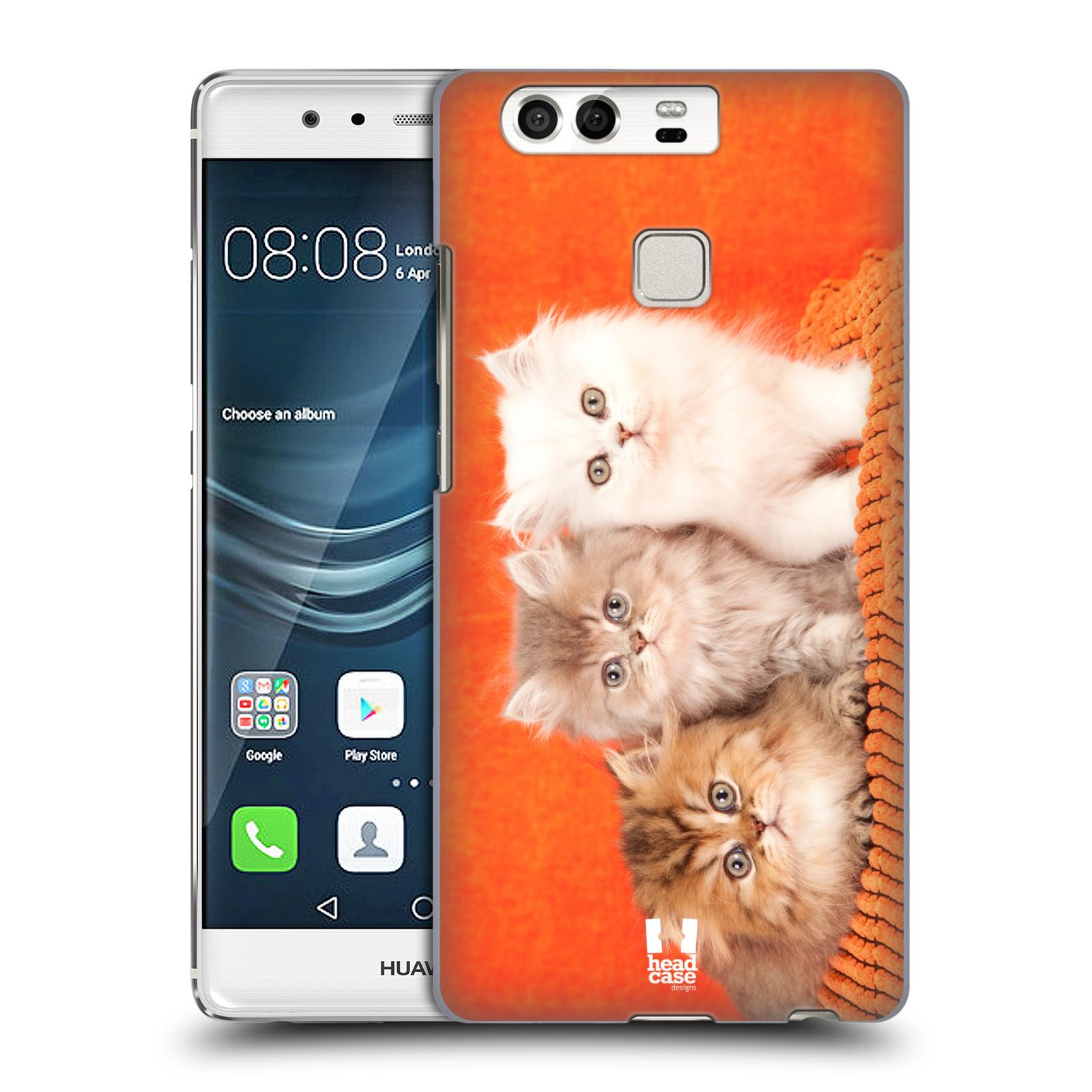 HEAD CASE plastový obal na mobil Huawei P9 / P9 DUAL SIM vzor Kočičky koťata foto 3 kočky