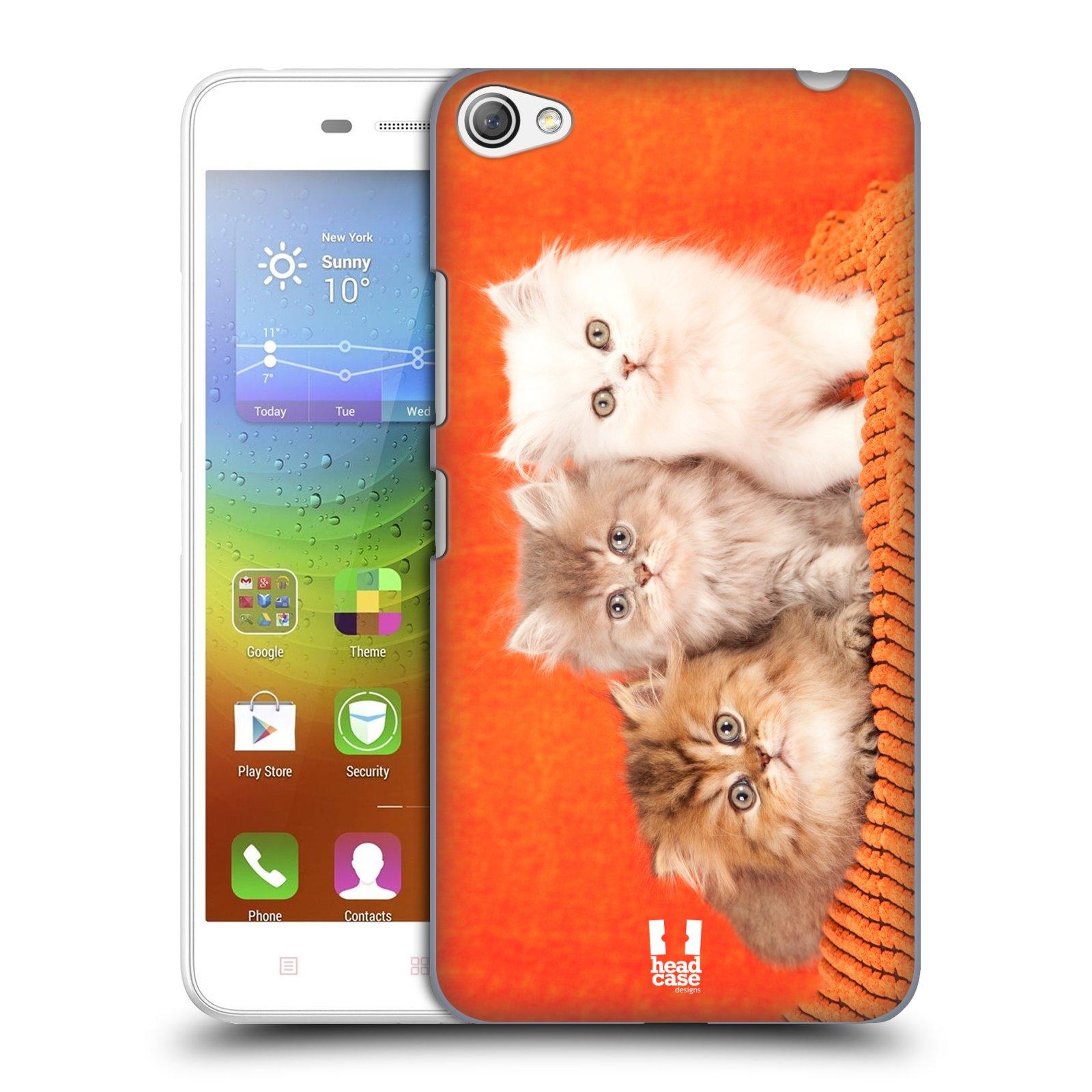HEAD CASE pevný plastový obal na mobil LENOVO S60 / LENOVO S60 DUAL SIM vzor Kočičky koťata foto 3 kočky