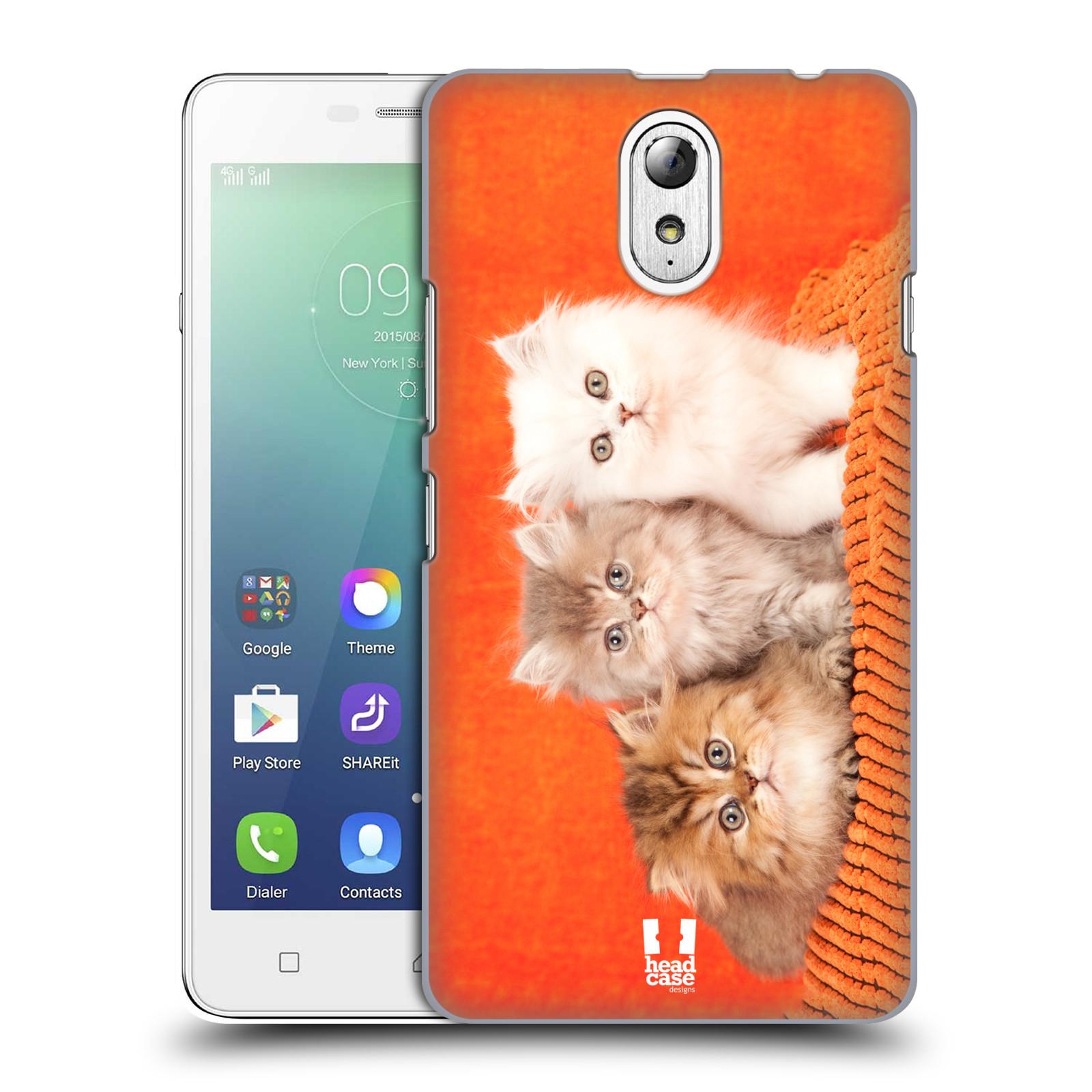 HEAD CASE pevný plastový obal na mobil LENOVO VIBE P1m / LENOVO VIBE p1m DUAL SIM vzor Kočičky koťata foto 3 kočky