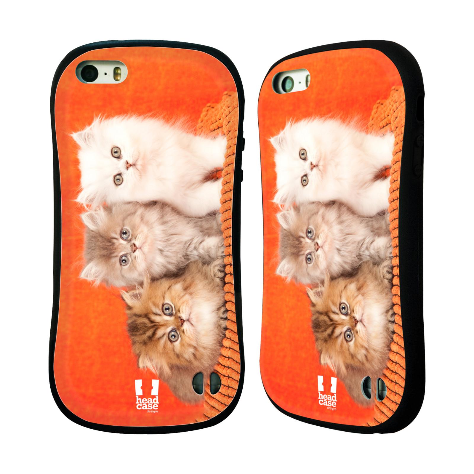 HEAD CASE silikon/plast odolný obal na mobil Apple Iphone 5/5S vzor Kočičky koťata foto 3 kočky
