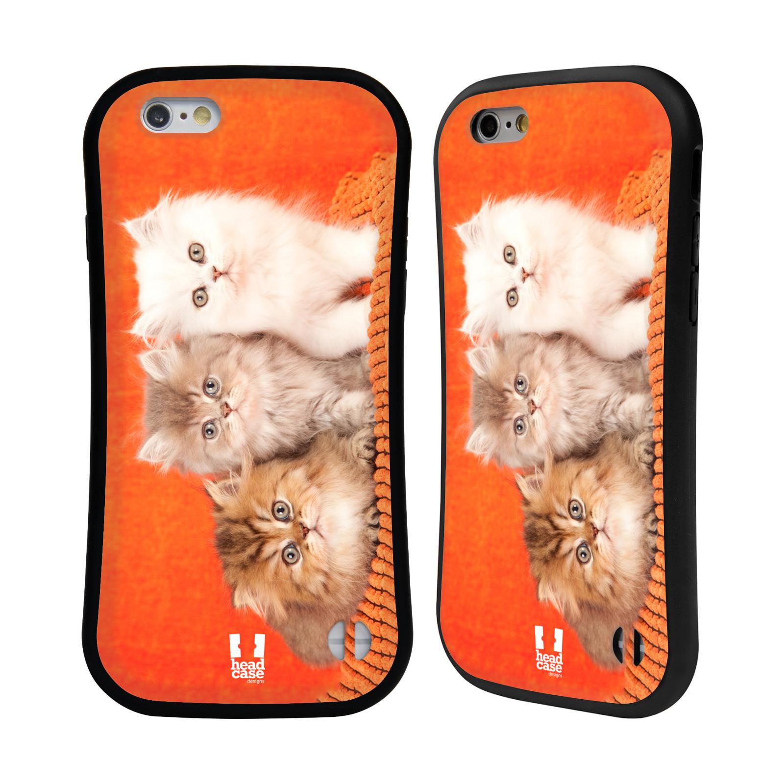 HEAD CASE silikon/plast odolný obal na mobil Apple Iphone 6/6S vzor Kočičky koťata foto 3 kočky