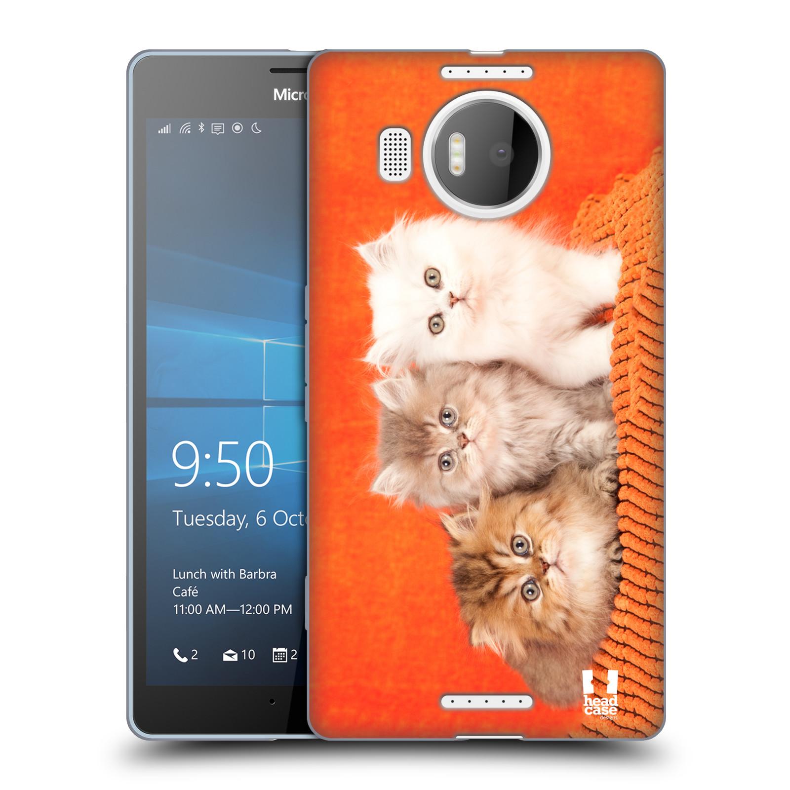 HEAD CASE silikonový obal na mobil NOKIA, MICROSOFT LUMIA 950 XL / LUMIA 950 XL DUAL SIM vzor Kočičky koťata foto 3 kočky