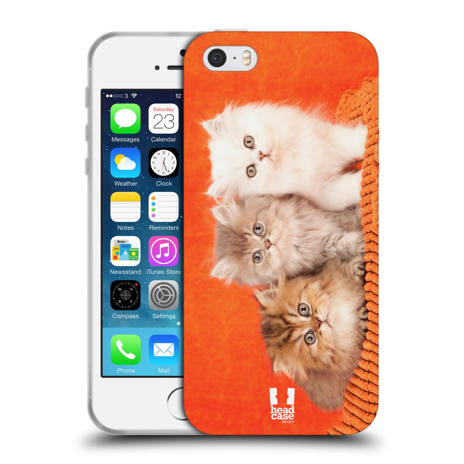HEAD CASE silikonový obal na mobil Apple Iphone 5/5S vzor Kočičky koťata foto 3 kočky