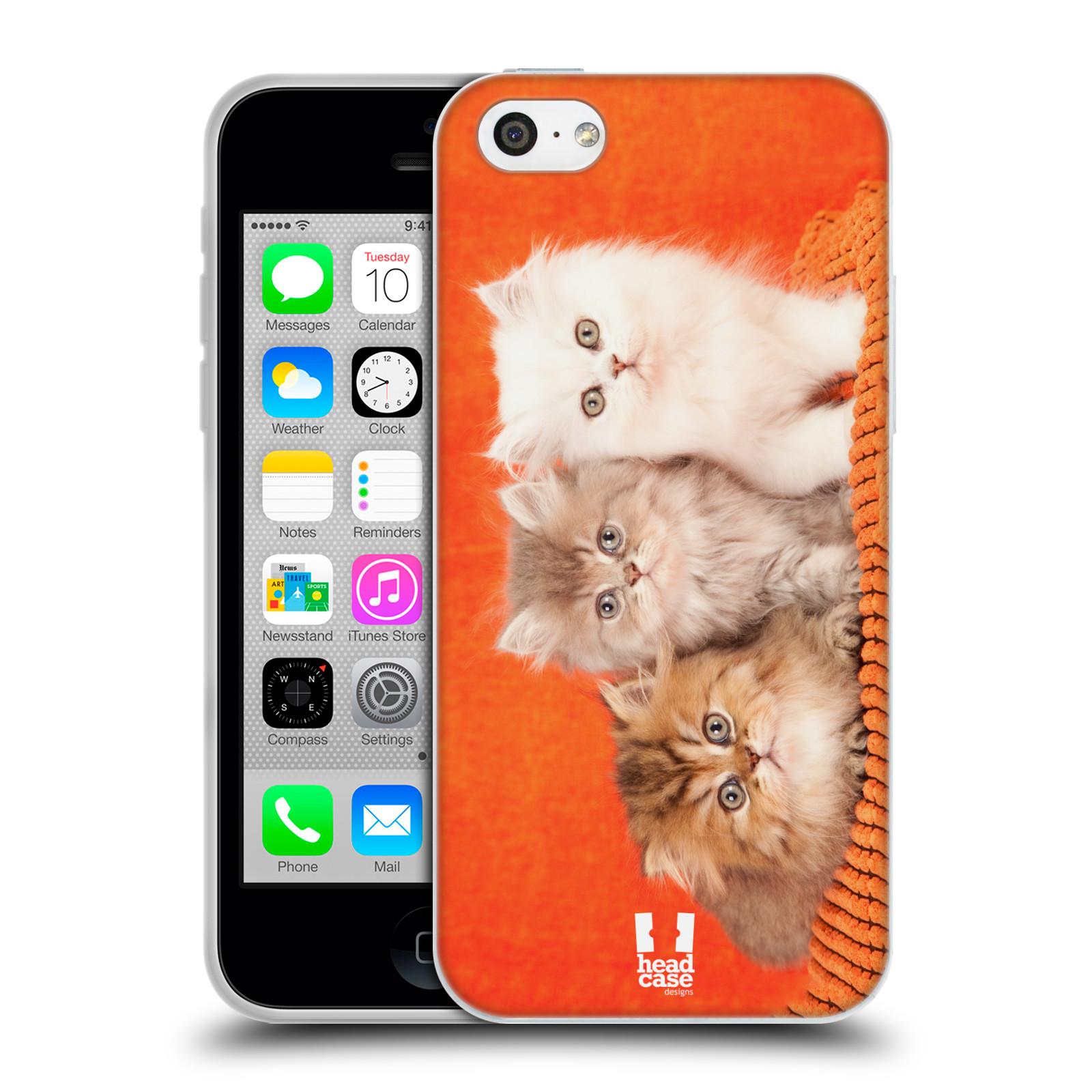 HEAD CASE silikonový obal na mobil Apple Iphone 5C vzor Kočičky koťata foto 3 kočky
